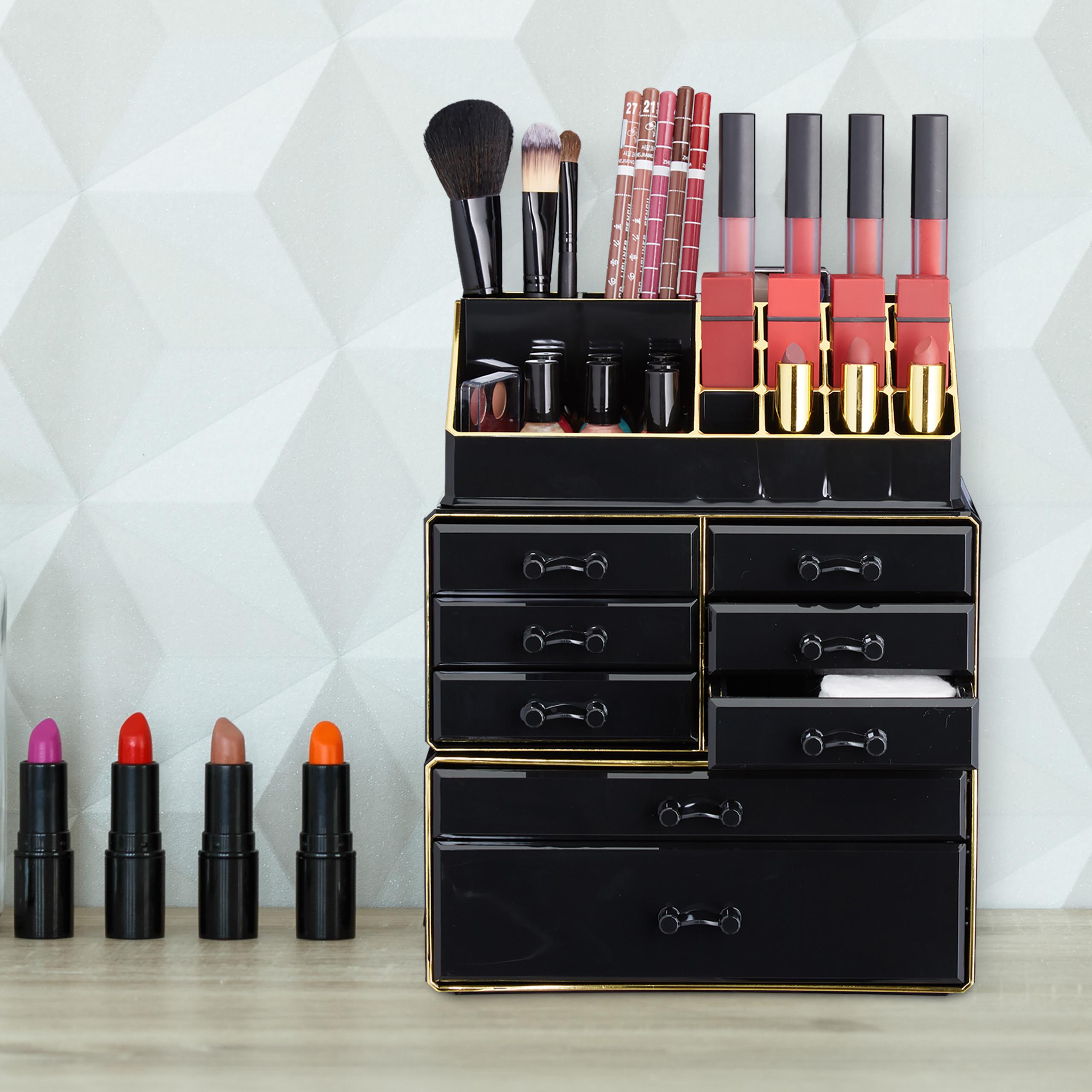 make-up-organizer-opbergen-van-cosmetica-acryl-stapelbaar-met-lades miniatuur 38