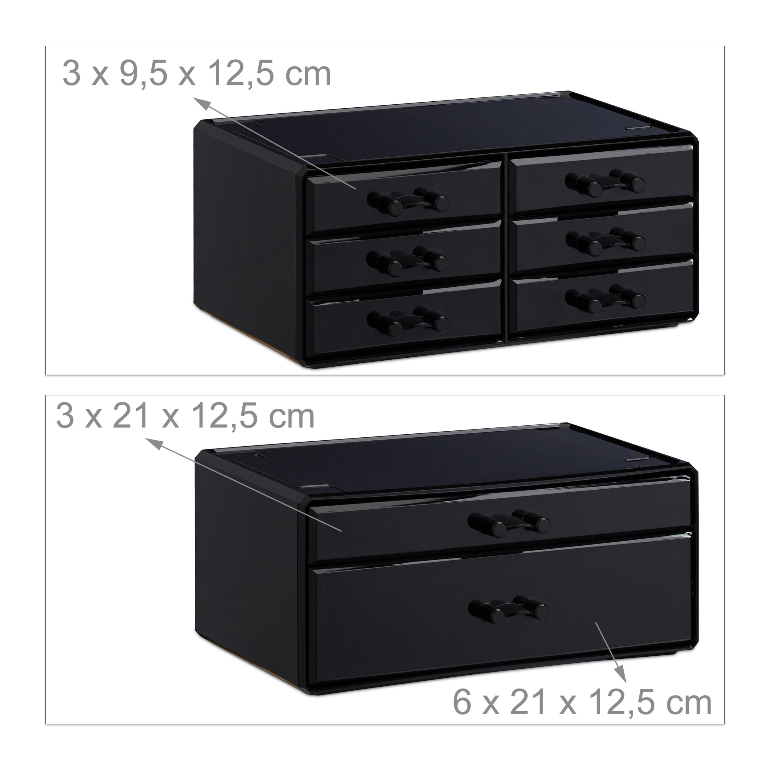 make-up-organizer-opbergen-van-cosmetica-acryl-stapelbaar-met-lades miniatuur 33