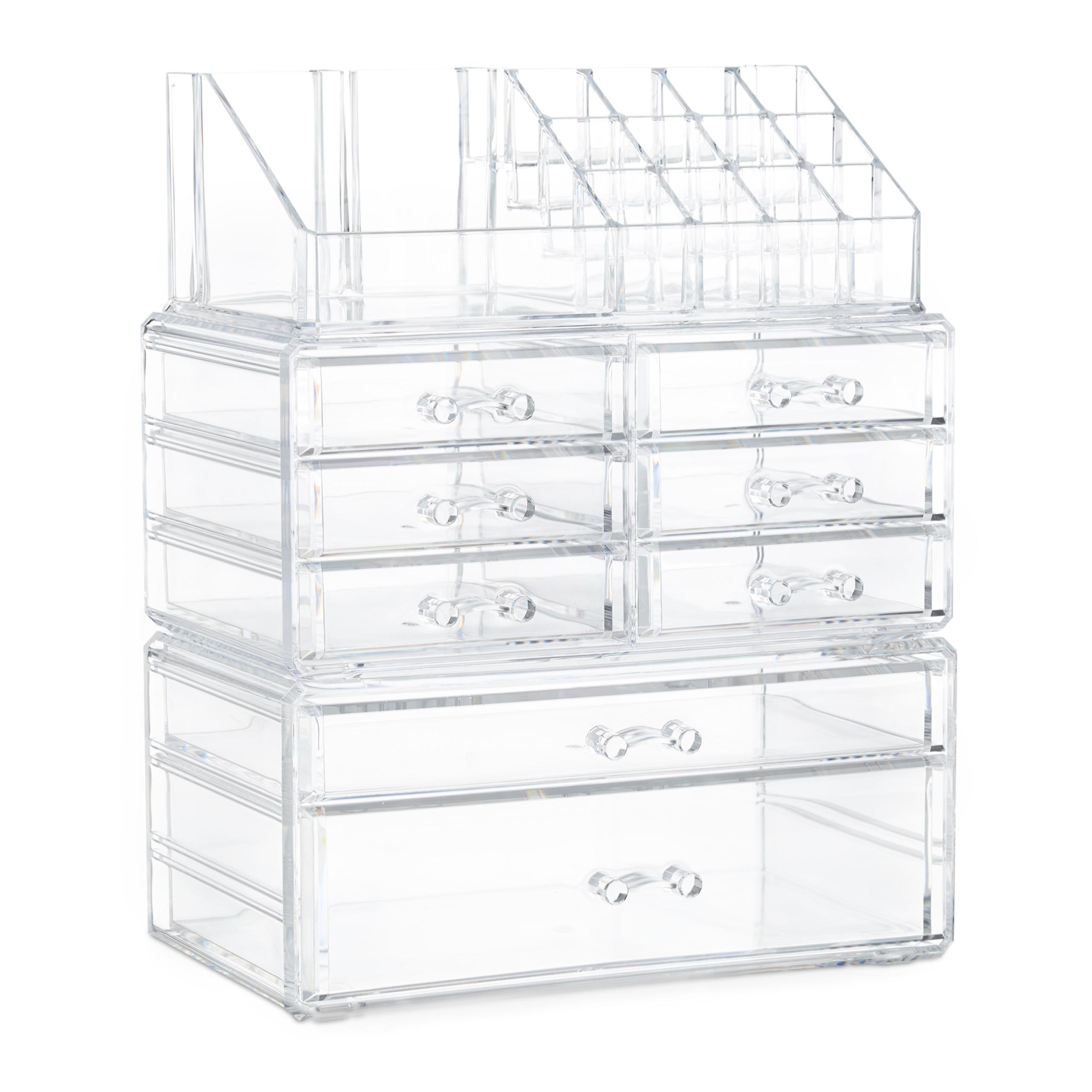 make-up-organizer-opbergen-van-cosmetica-acryl-stapelbaar-met-lades miniatuur 5