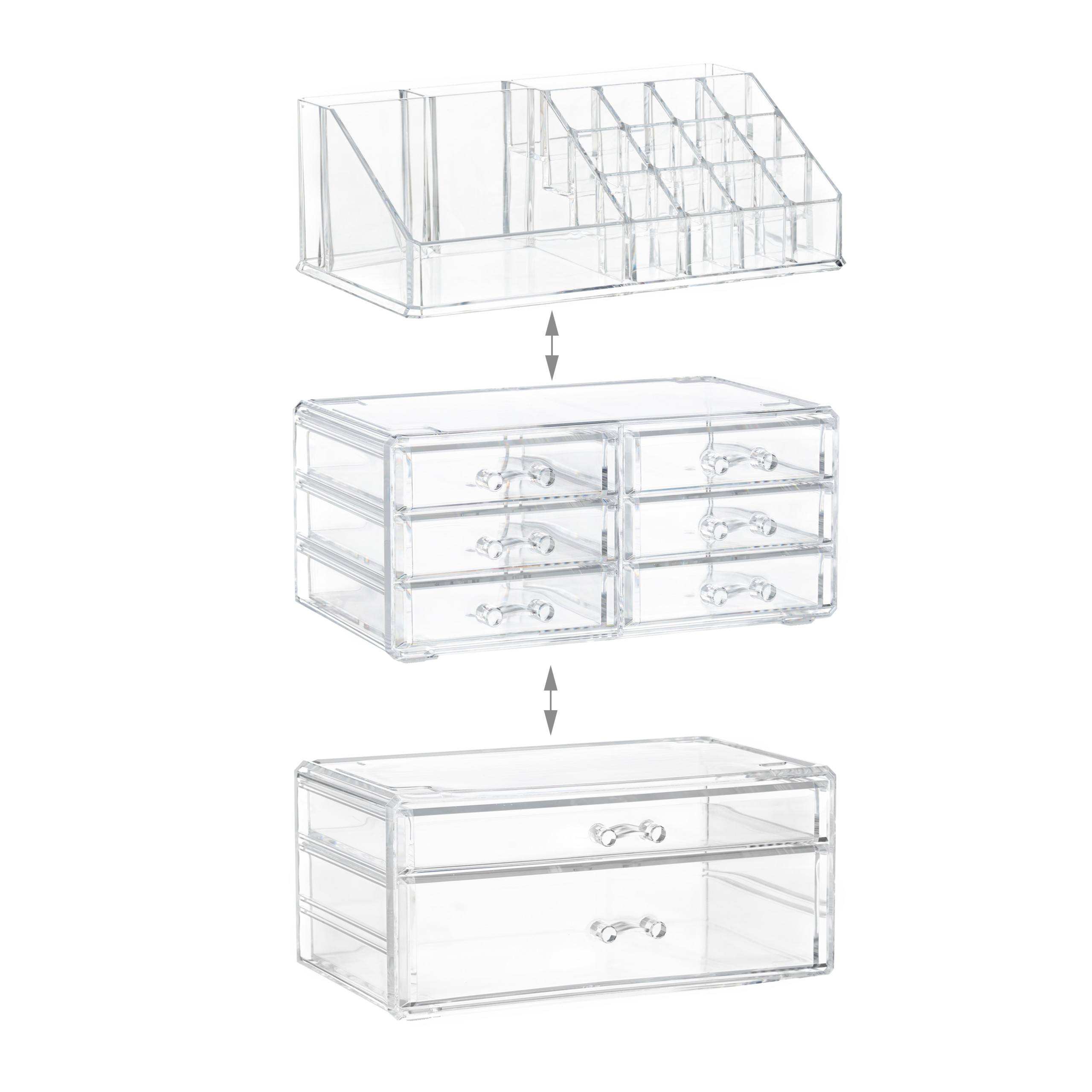 make-up-organizer-opbergen-van-cosmetica-acryl-stapelbaar-met-lades miniatuur 6