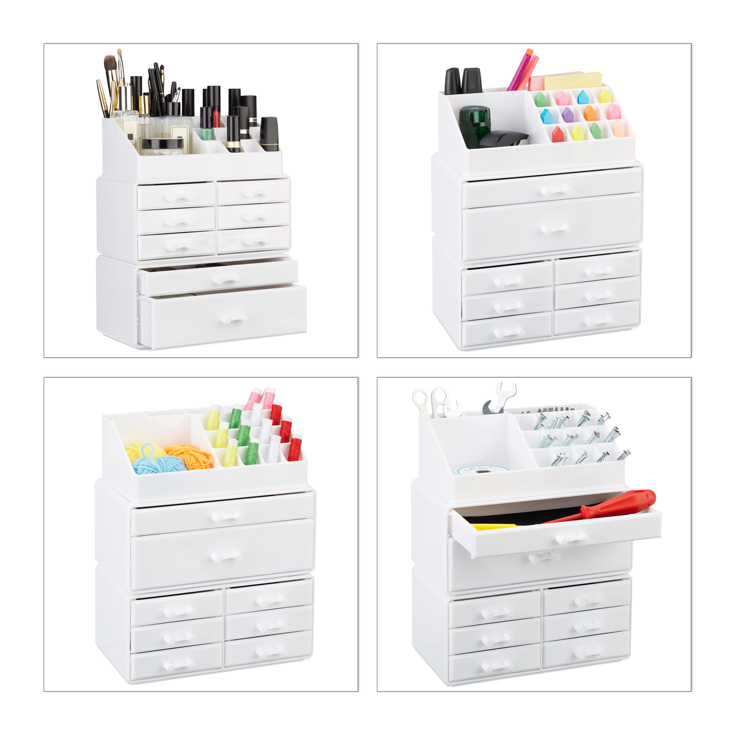 make-up-organizer-opbergen-van-cosmetica-acryl-stapelbaar-met-lades miniatuur 4