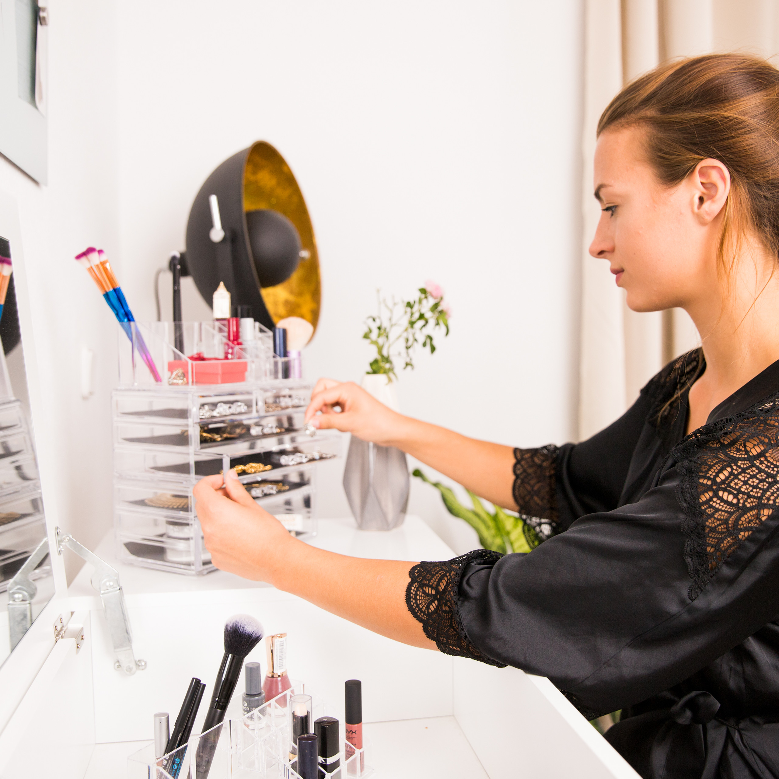 make-up-organizer-opbergen-van-cosmetica-acryl-stapelbaar-met-lades miniatuur 8