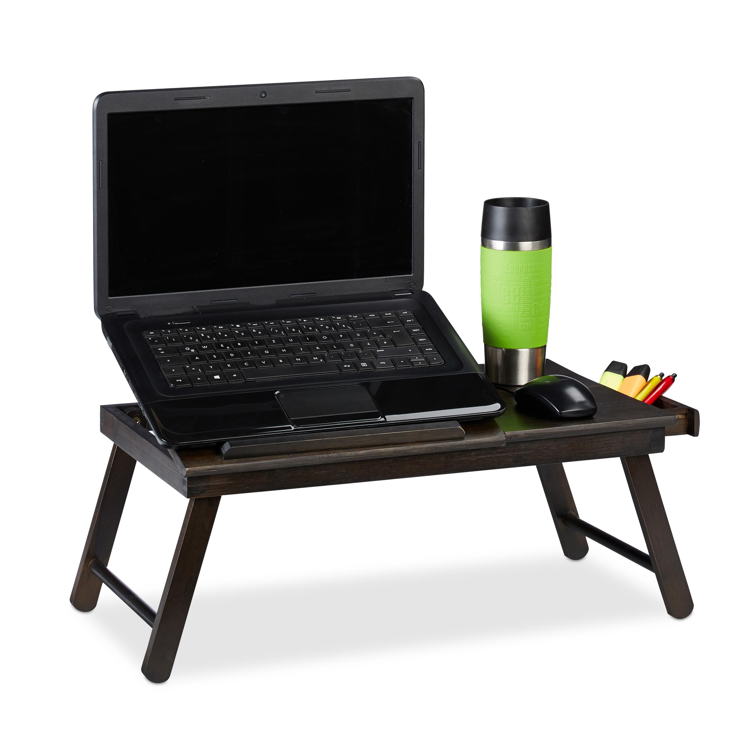 Notebooktisch Laptoptisch Lapdesk Notebookauflage Tablett Arbeitstisch USB LED