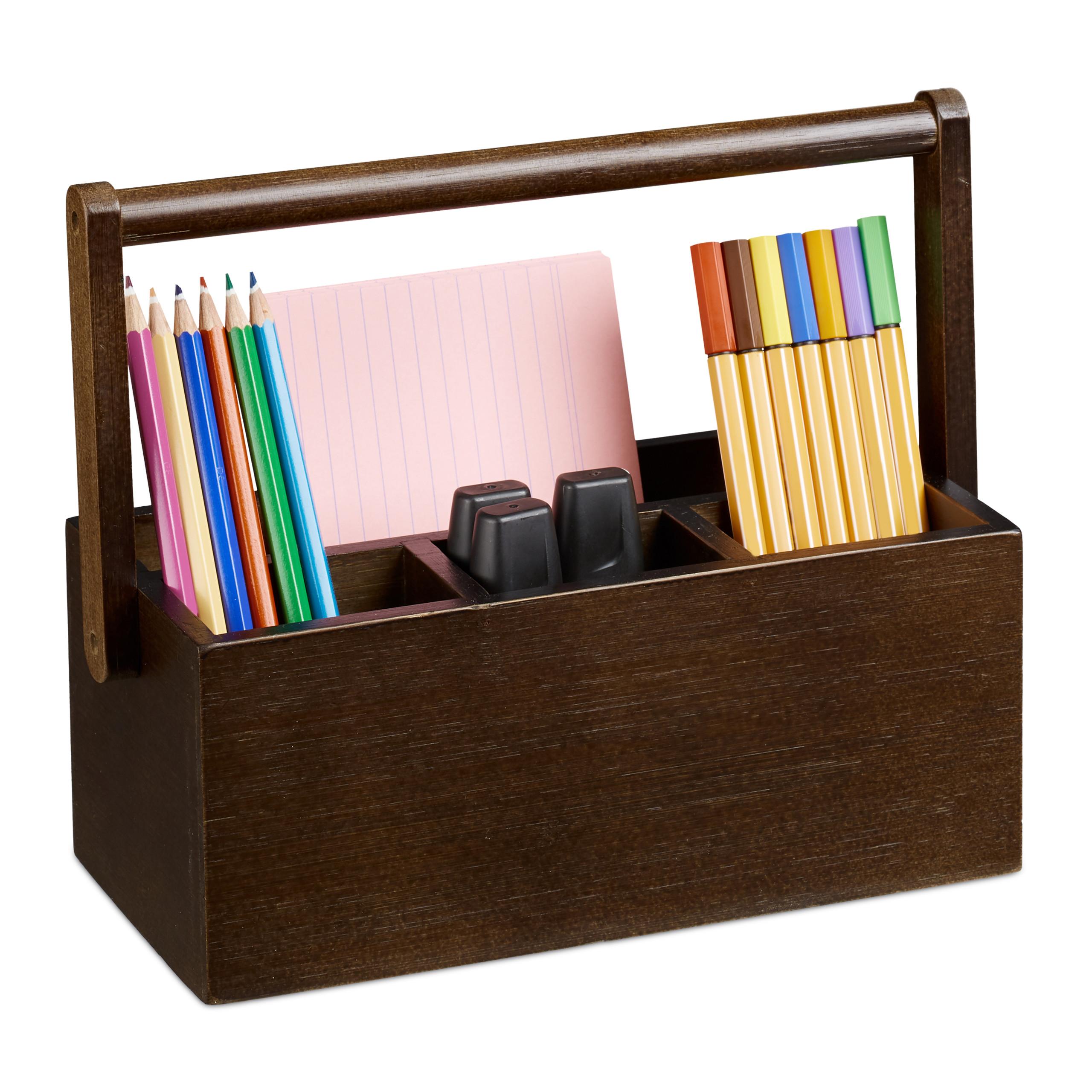 Stiftehalter Tischorganizer Bambus Stifthalter Henkel Organizer Stifteköcher