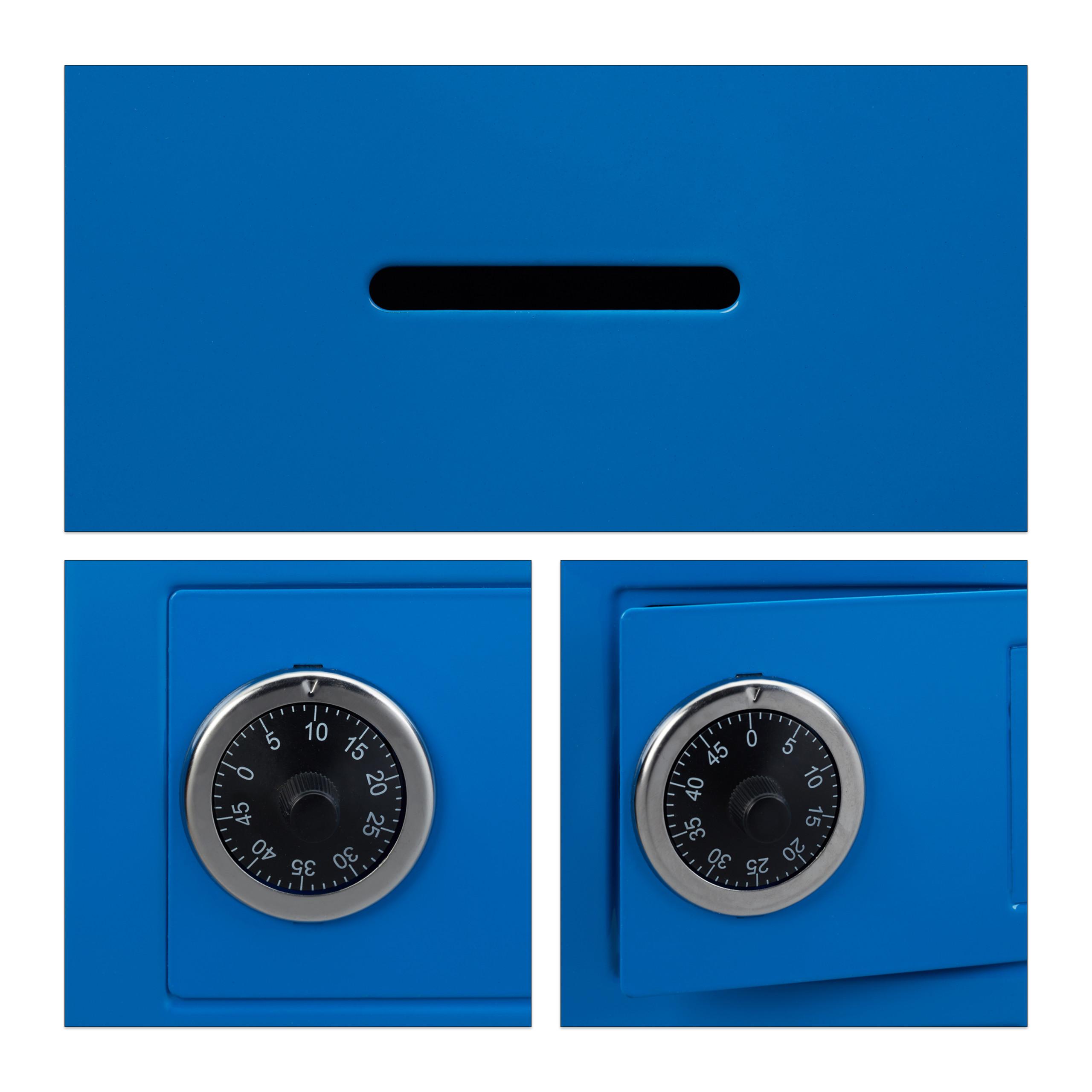Spaarpot-kluis-code-cijferslot-kinderspaarpot-speelgoed-kluis-metaal miniatuur 6