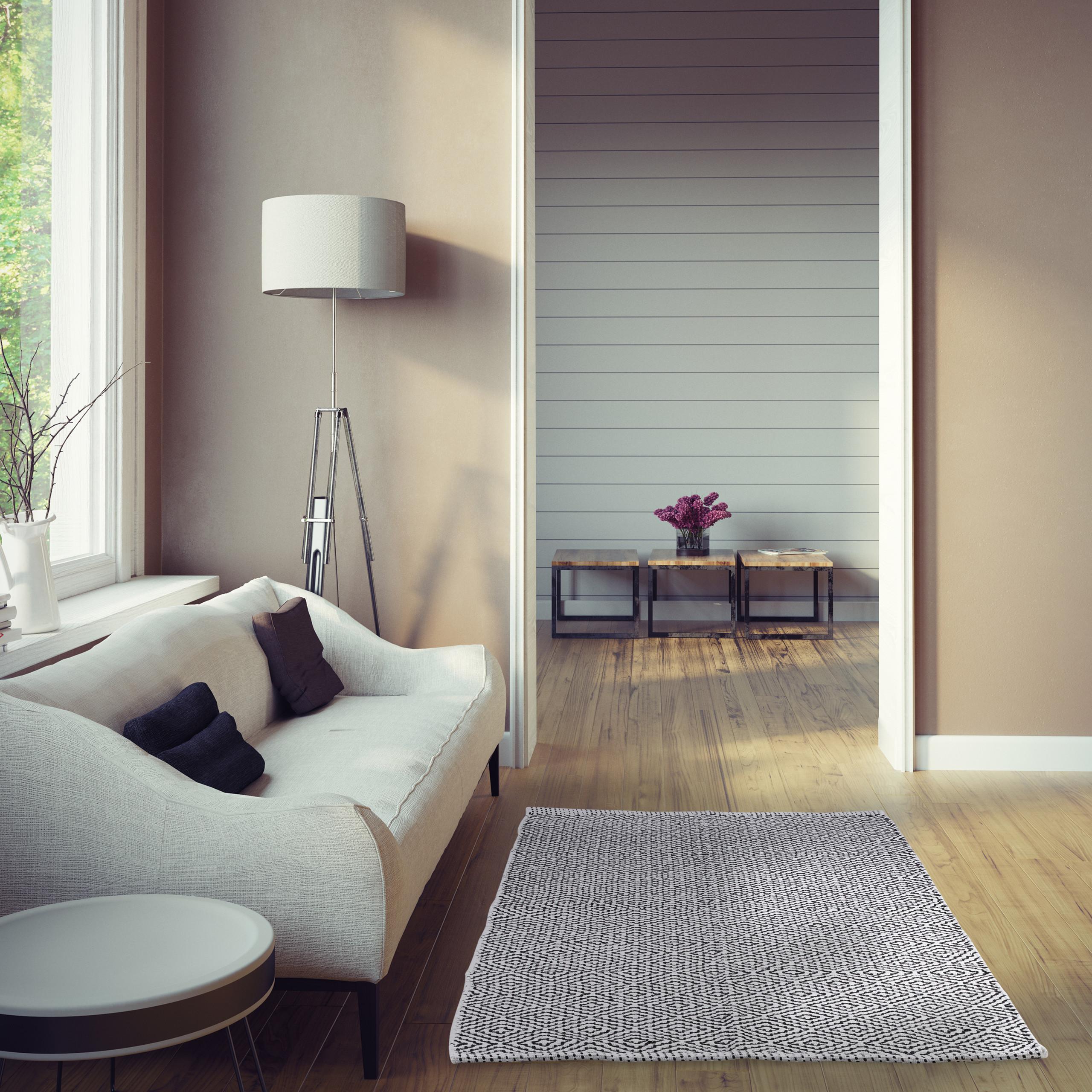 Tappeto passatoia per corridoio soggiorno cotone bianco-nero | eBay