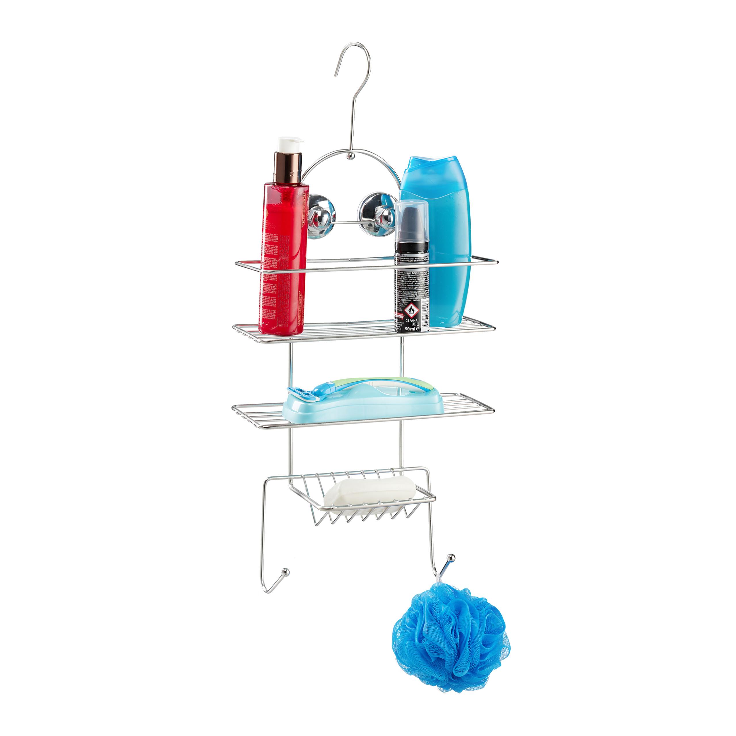 duschregal duschablage zum h ngen duschkorb badablage ohne. Black Bedroom Furniture Sets. Home Design Ideas