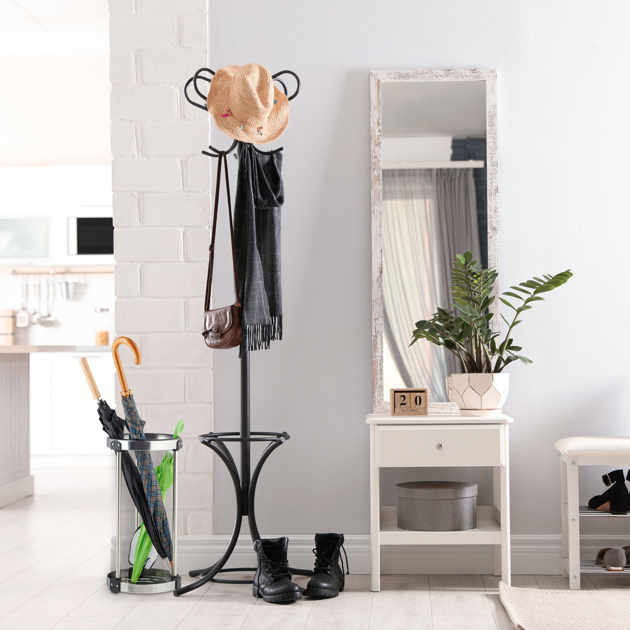 schirmst nder edelstahl schirmhalter regenschirmhalter. Black Bedroom Furniture Sets. Home Design Ideas