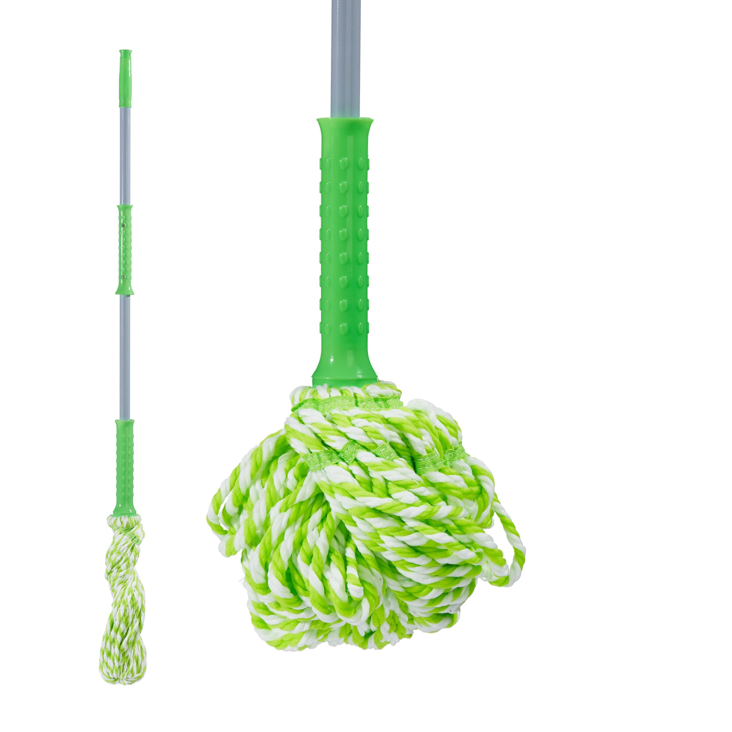 Wischmop mit Auswringfunktion Bodenwischer Mopp Mikrofaser Wischkopf Twist Mop