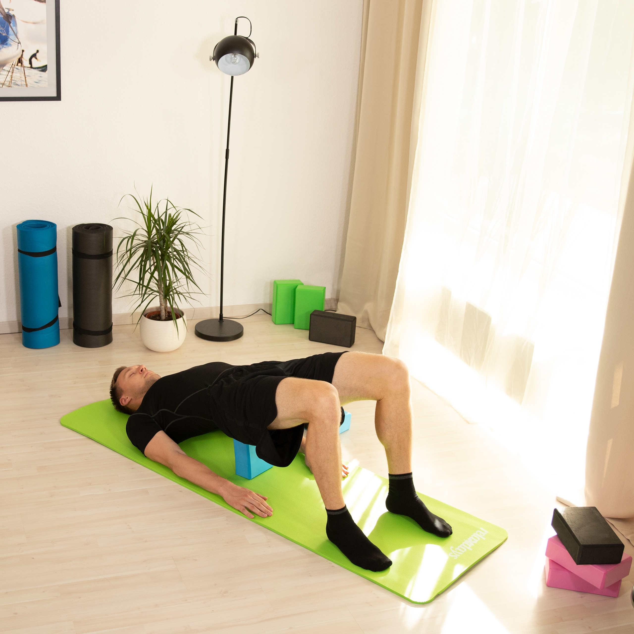 Pack-de-2-bloques-yoga-de-gomaespuma-Tacos-yoga-en-varios-colores-Ladrillos-yoga miniatura 12
