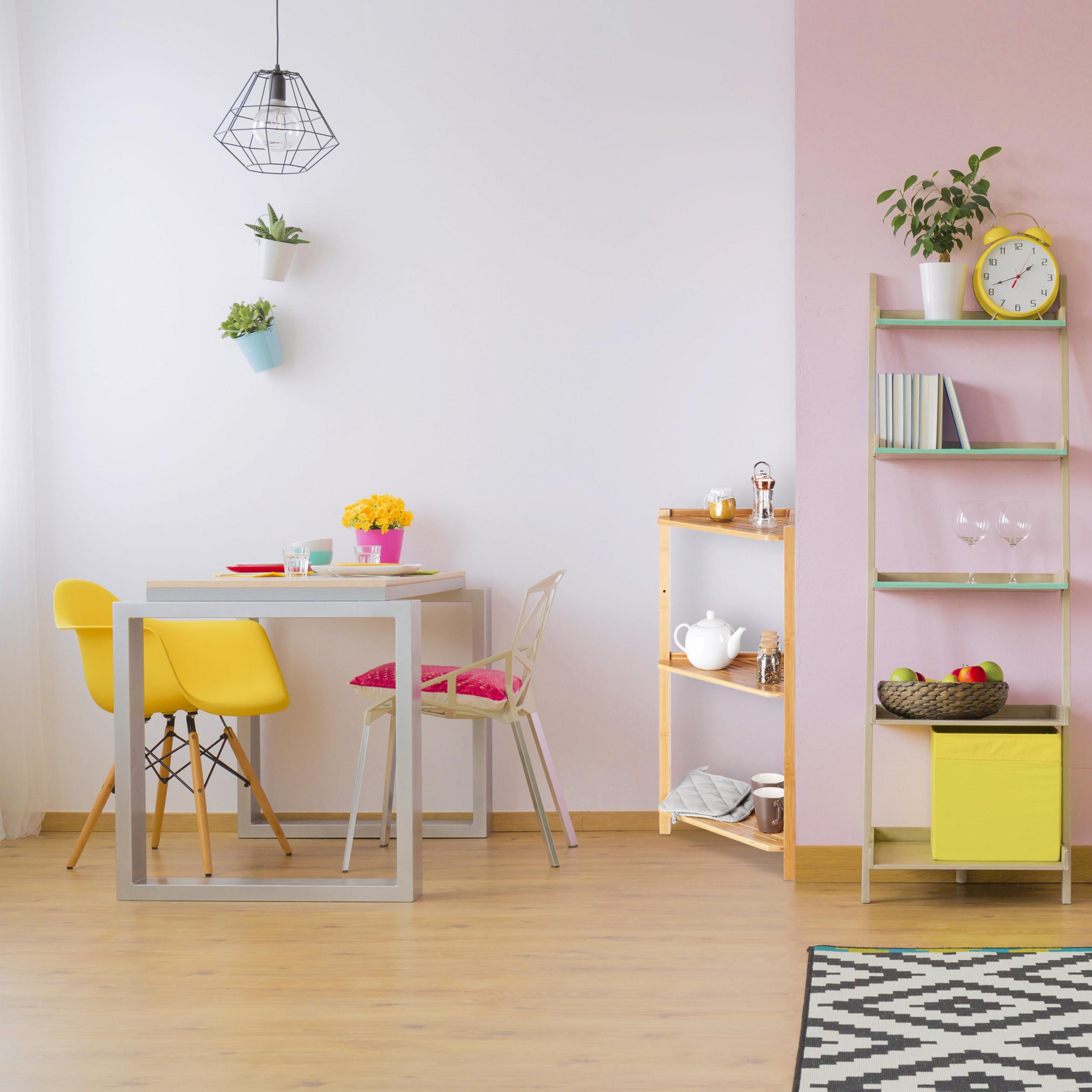 Dettagli su Scaffale ad angolo in bambù, 3 ripiani, mobile angolare bagno e  cucina, marrone
