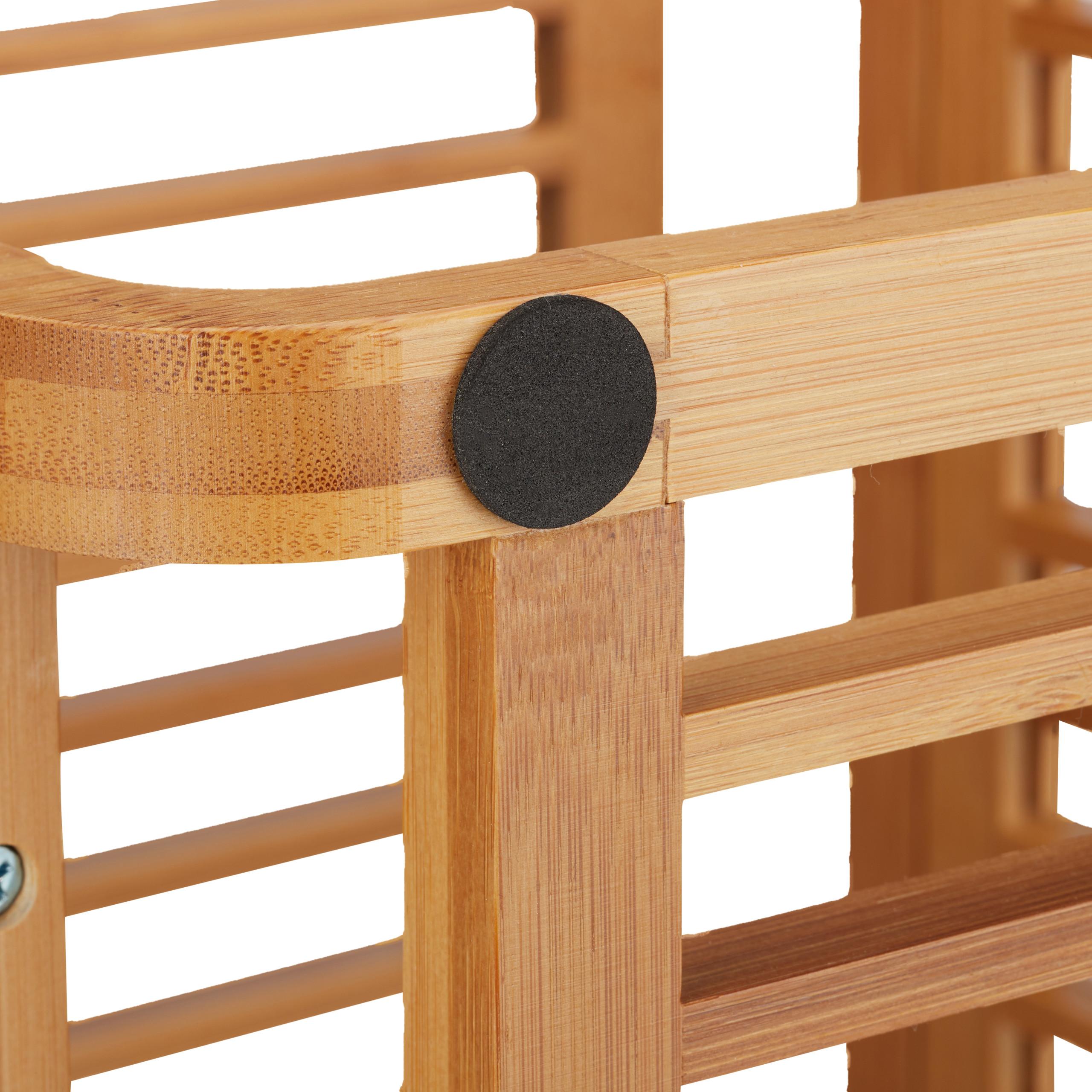 Dettagli su Scaffale legno di bambù, mobile da bagno, mobiletto  portasciugamani, scarpiera