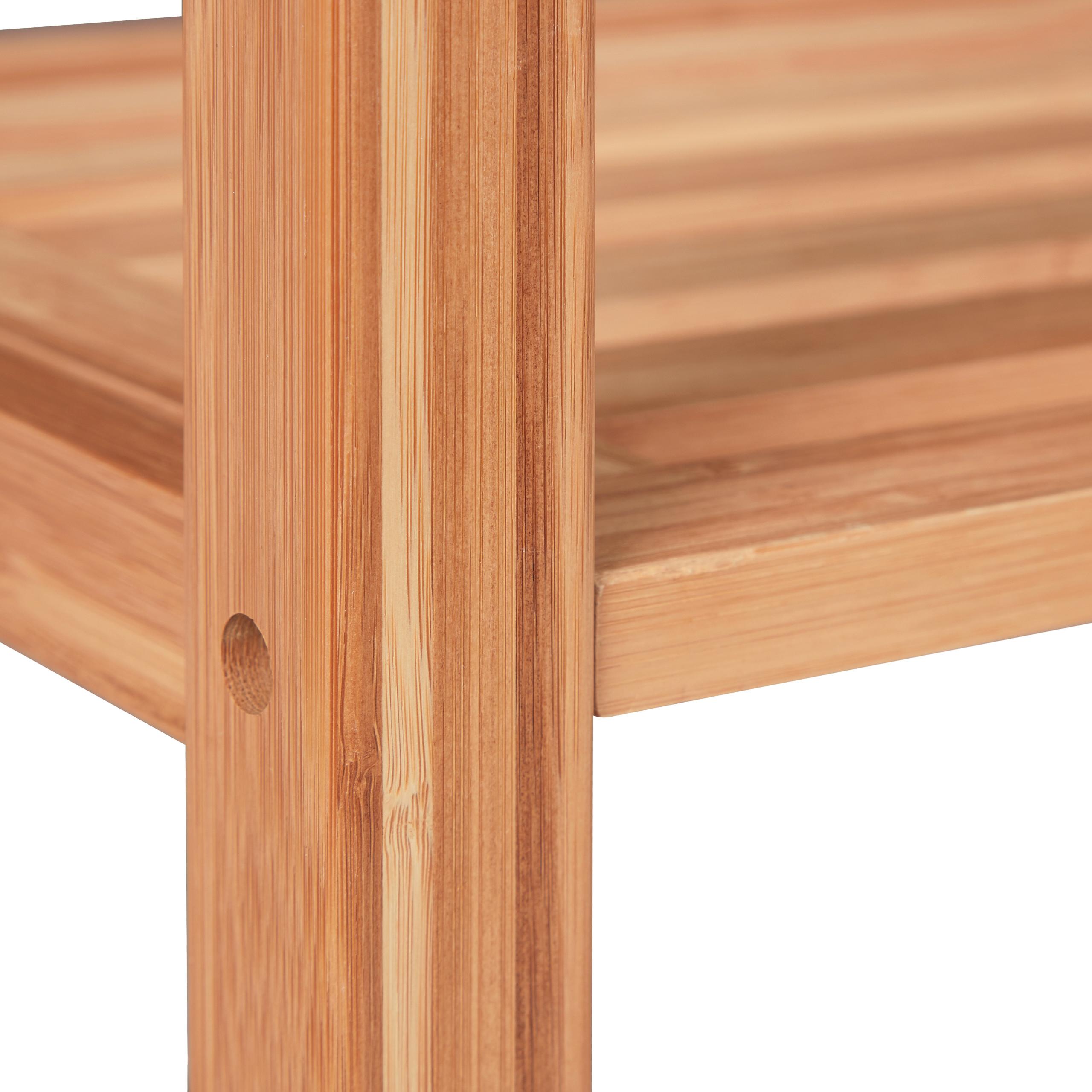 Bambusregal-Deluxe-Stehregal-natur-Standregal-Regal-Bambus-Lagerregal-Badregal Indexbild 22