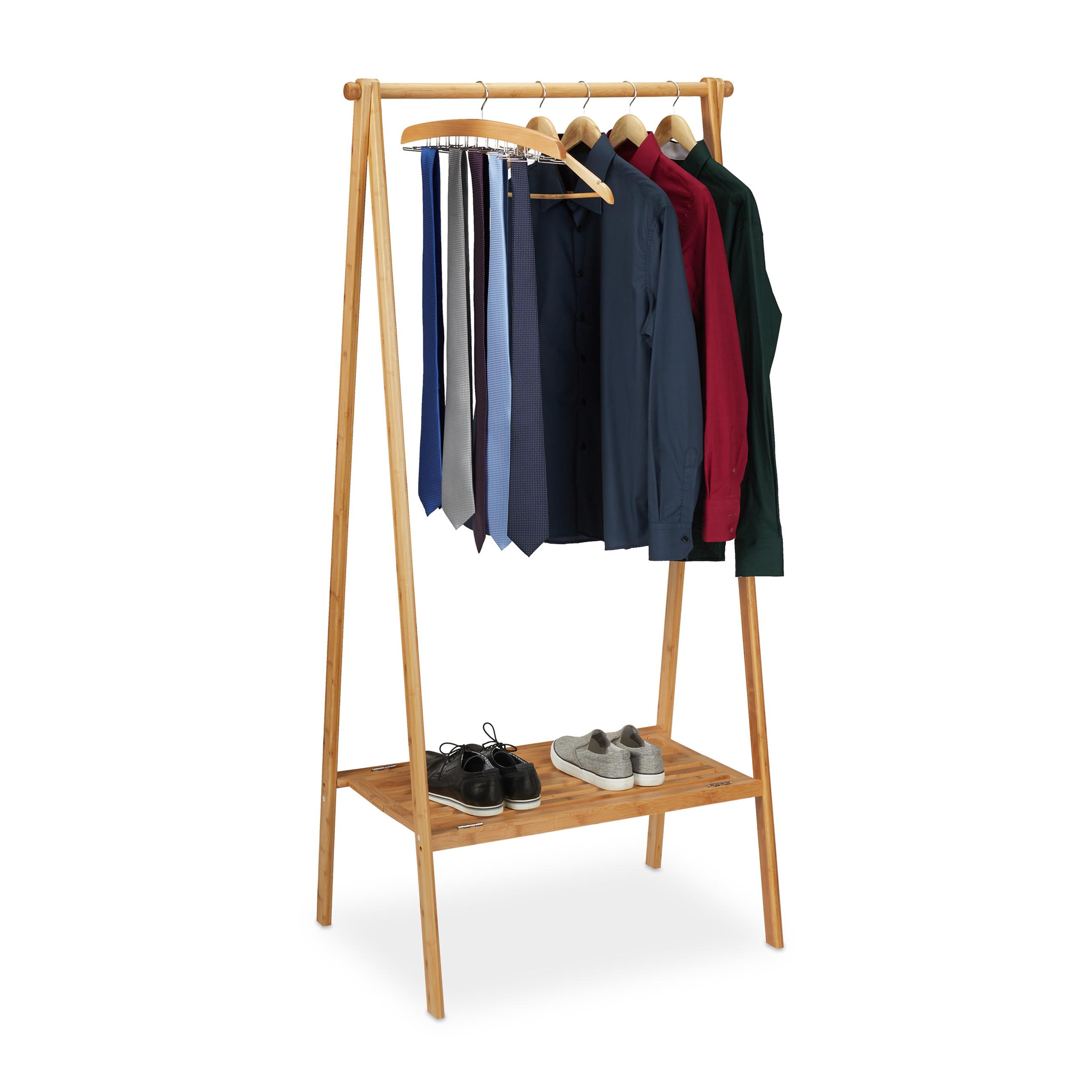 Tringle De Porte Entree détails sur portant pliable en bambou penderie porte vêtements bois tringle  rangement entrée