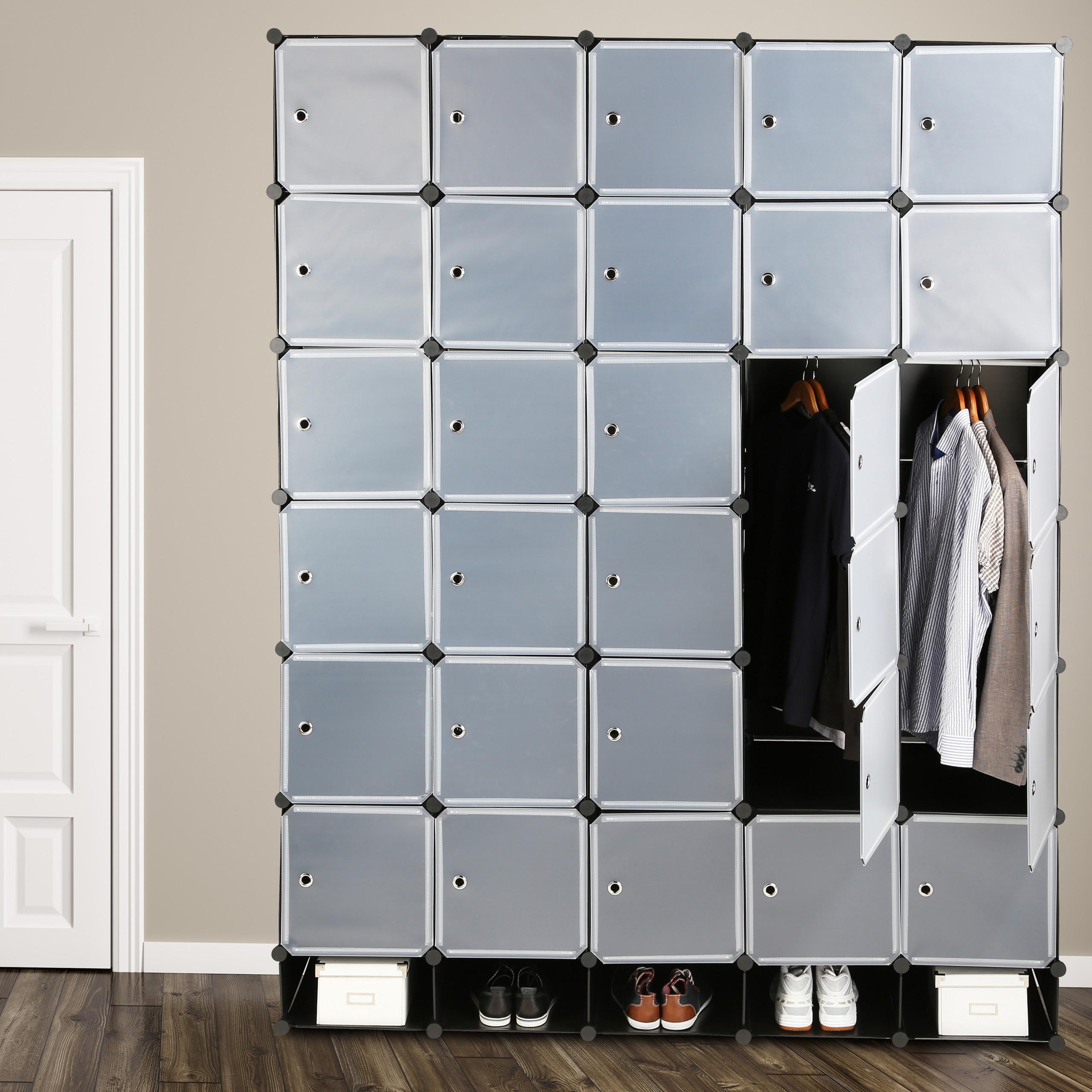 Dettagli su Armadio XXL, armadietto per camera da letto, scaffale  componibile in plastica