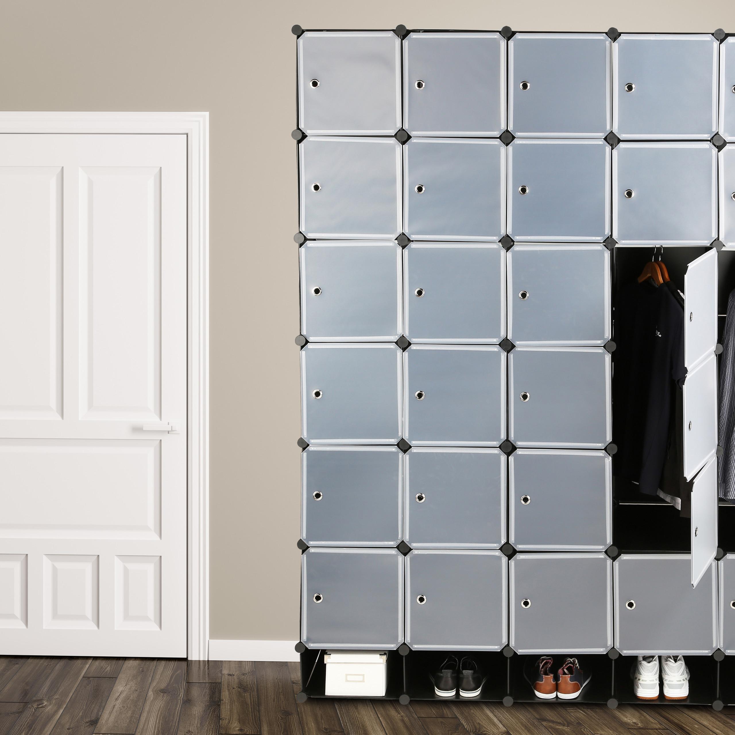 Armadio XXL, armadietto per camera da letto, scaffale componibile in ...