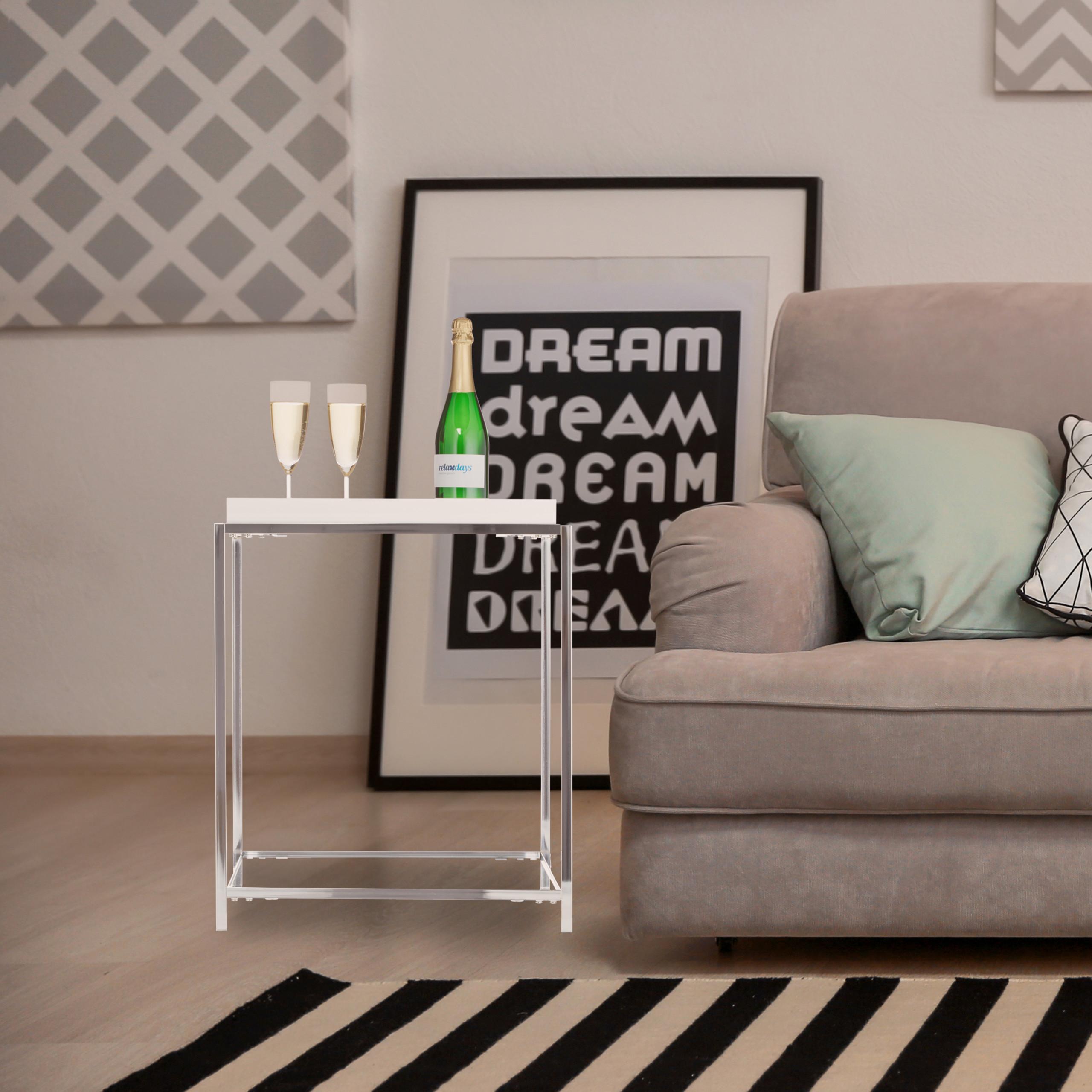 Tavolino con vassoio tavolinetto da divano salotto for Divano quadrato