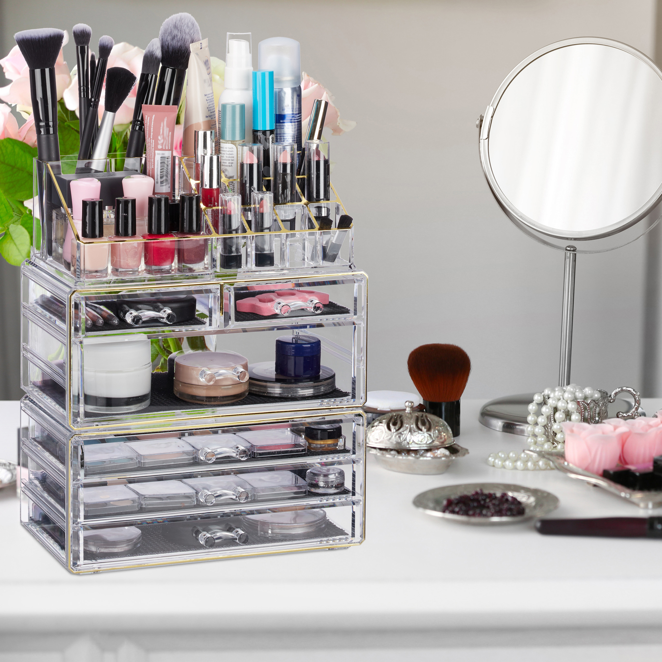make-up-organizer-met-6-lades-acryl-cosmeticahouder-make-up-cosmetica-opslag miniatuur 11