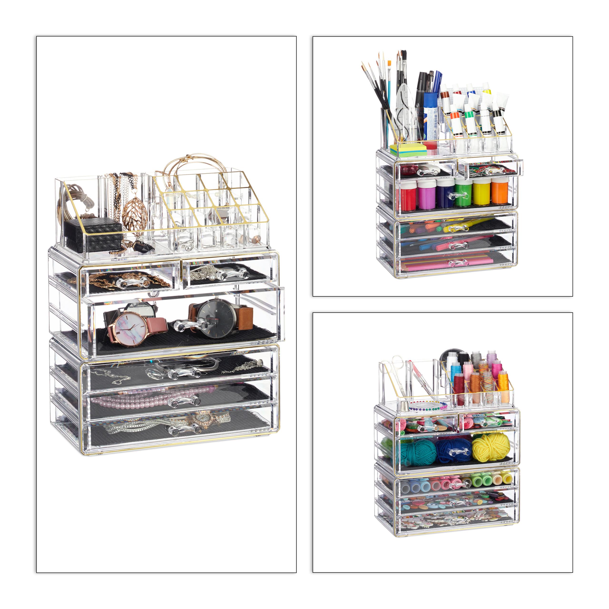make-up-organizer-met-6-lades-acryl-cosmeticahouder-make-up-cosmetica-opslag miniatuur 12
