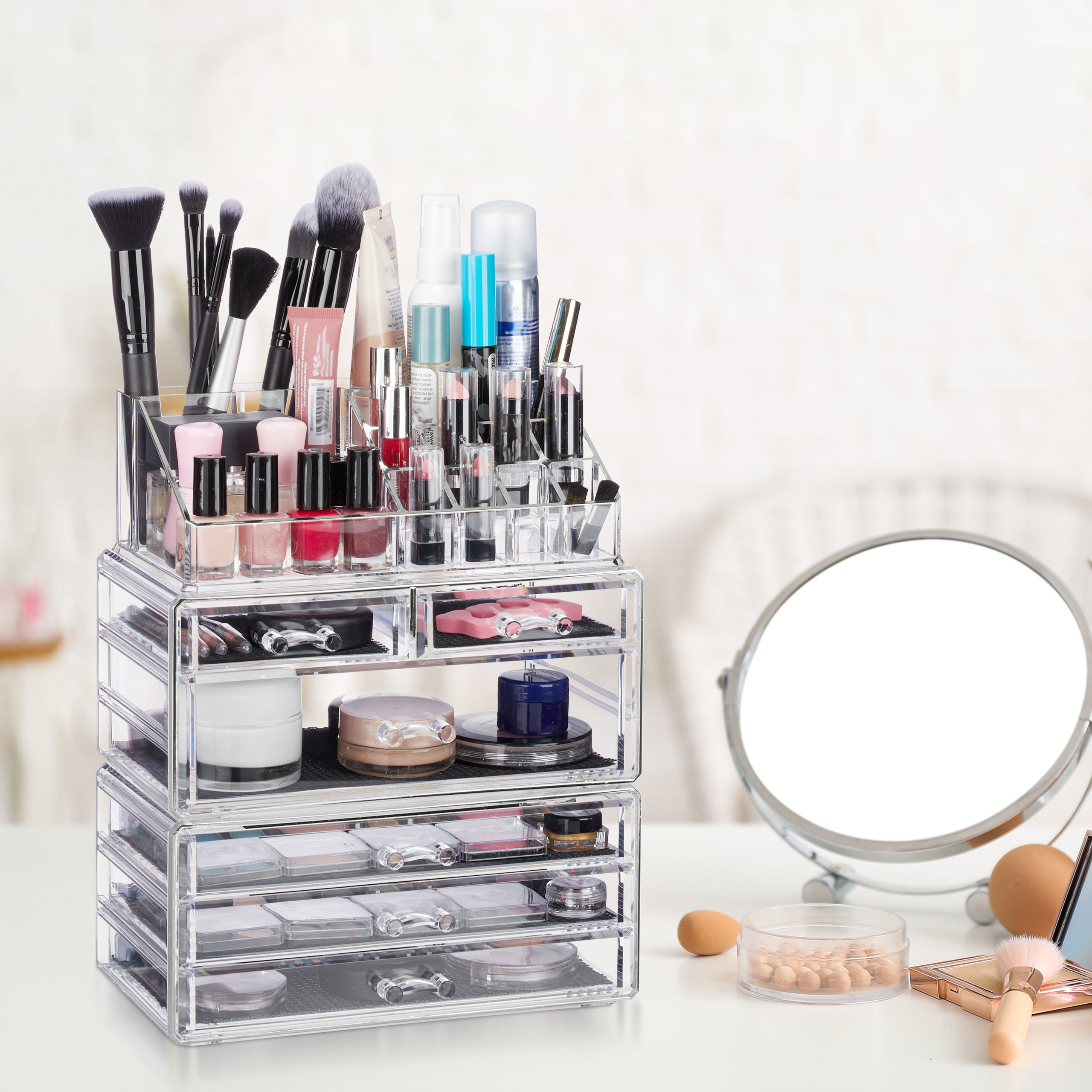 make-up-organizer-met-6-lades-acryl-cosmeticahouder-make-up-cosmetica-opslag miniatuur 3