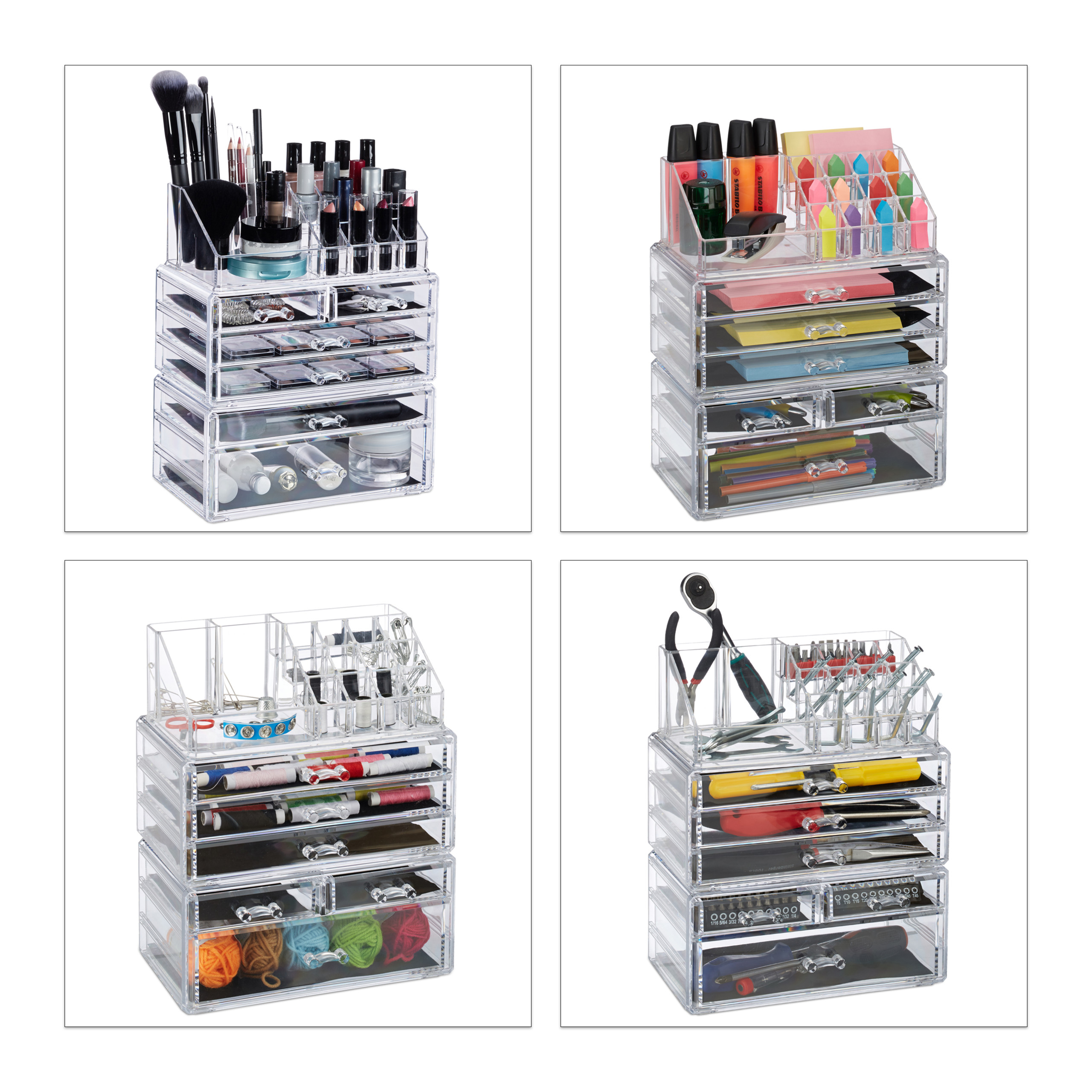 make-up-organizer-met-6-lades-acryl-cosmeticahouder-make-up-cosmetica-opslag miniatuur 4