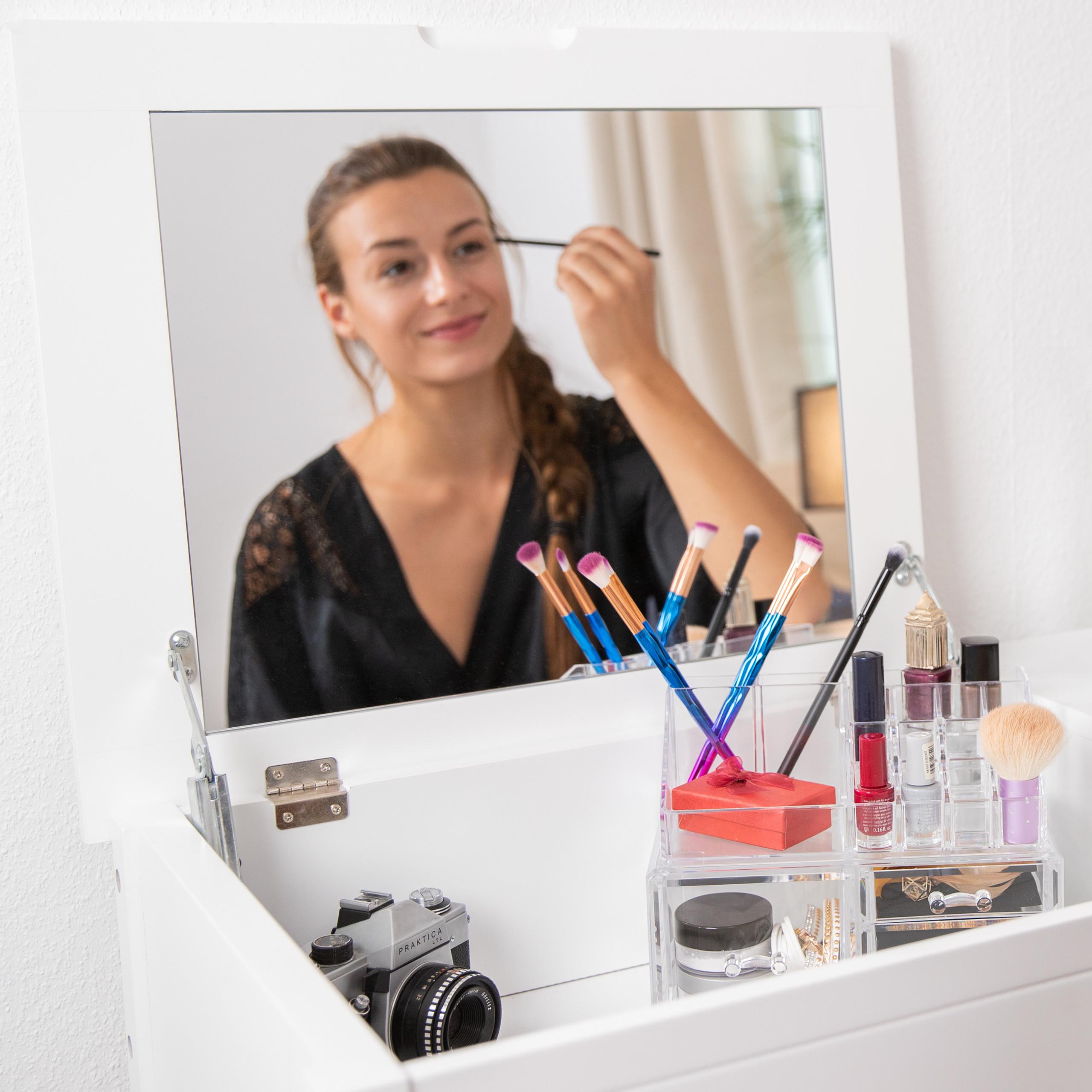 Make-up-organizer-met-3-lades-acryl-make-up-toren-doorzichtig-16-vakken miniatuur 7