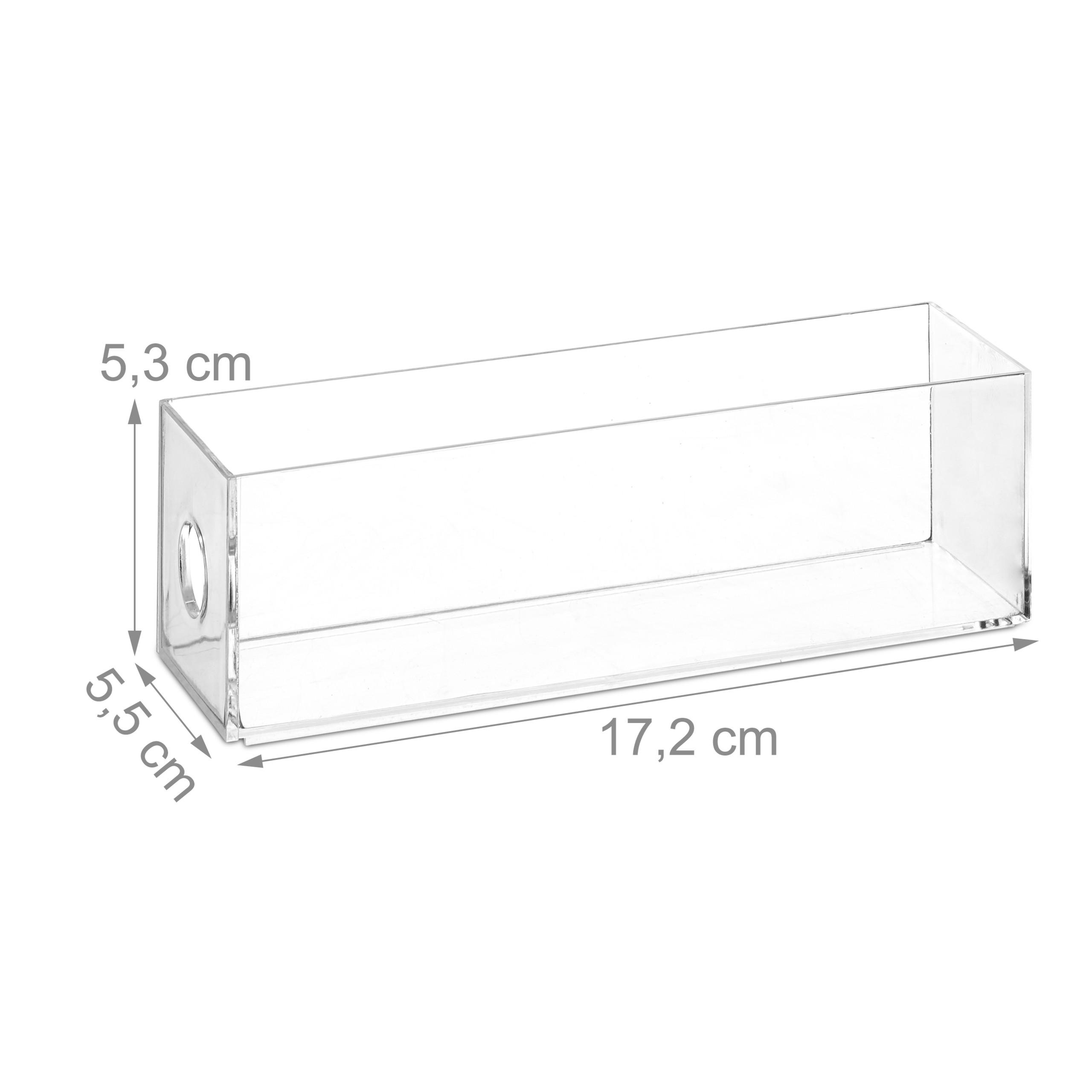 Transparent-Make-Up-Organiser-Storage-Box-with-4-Drawers thumbnail 7