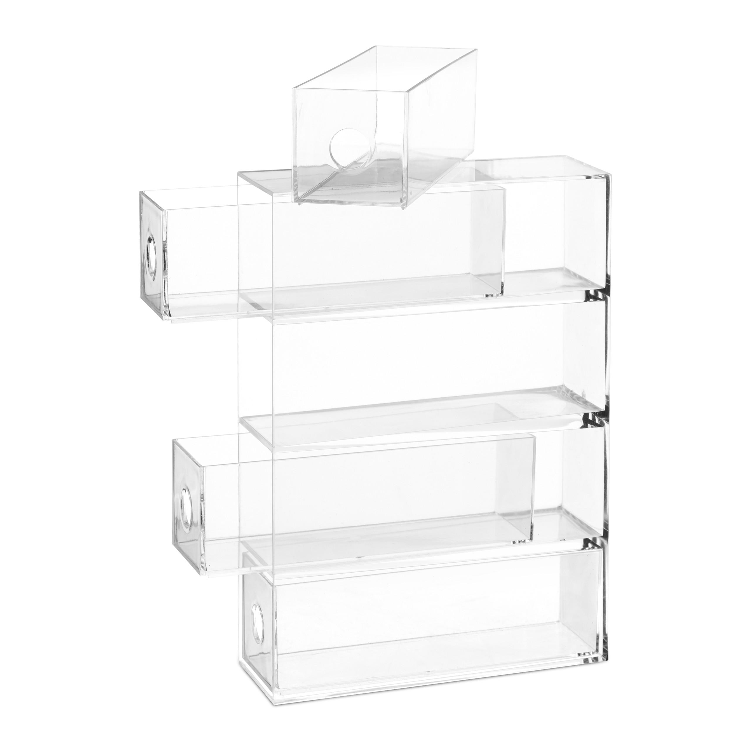 Transparent-Make-Up-Organiser-Storage-Box-with-4-Drawers thumbnail 9