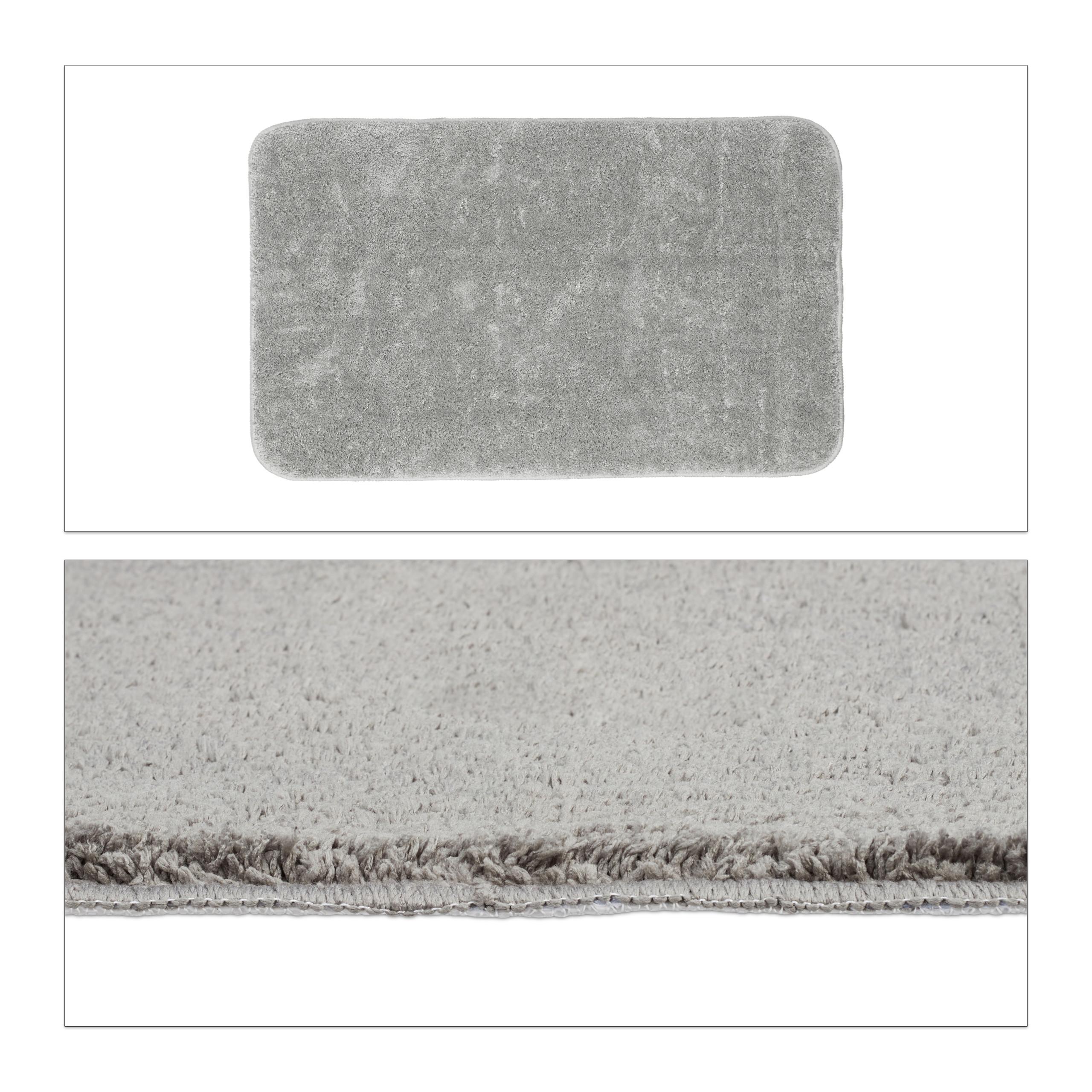 Tapis de bain gris salle de bain tapis antidérapant tapis de bain ...