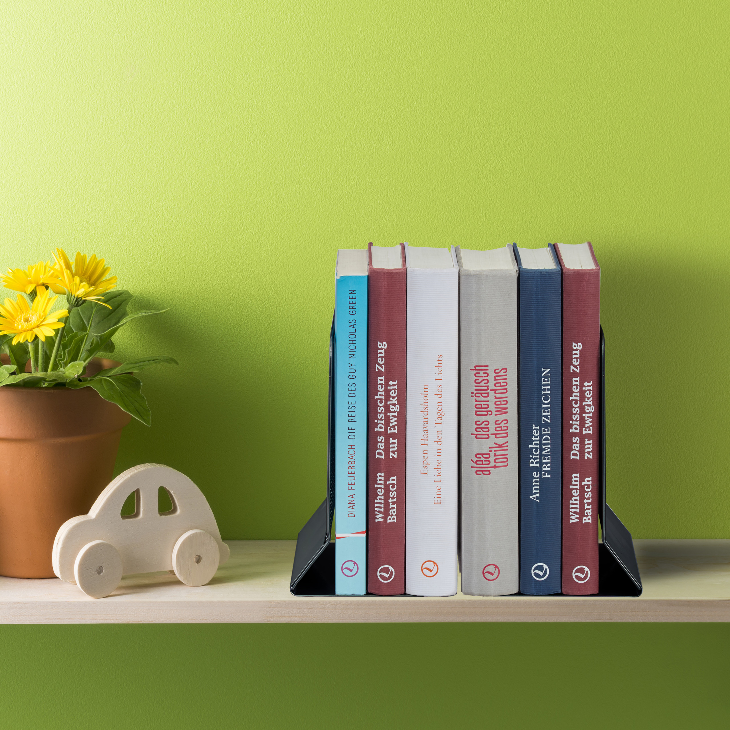 2-Piece-Bookend-Set-Decorative-Book-CD-and-DVD-Holders-Metal-Book-Support thumbnail 6