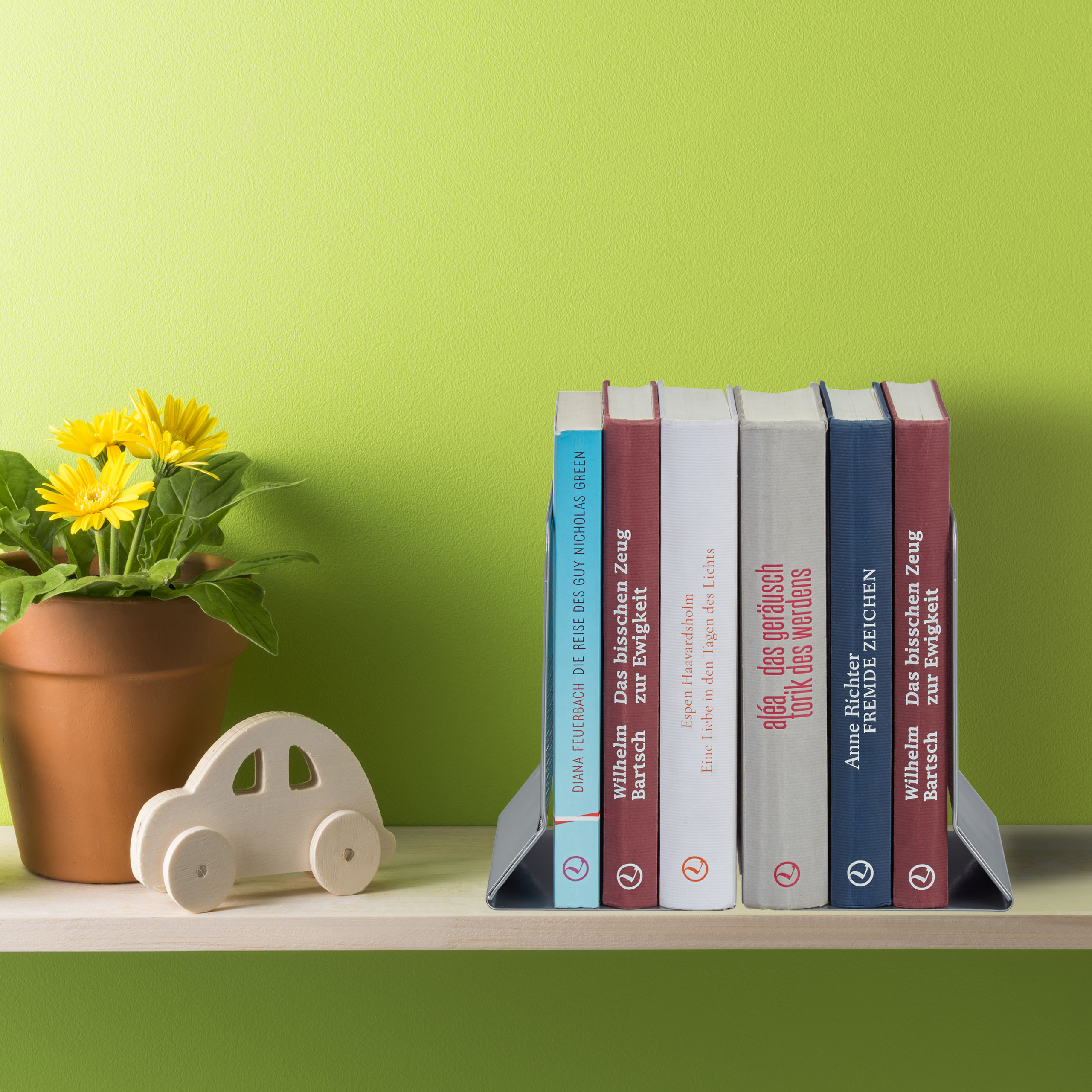 2-Piece-Bookend-Set-Decorative-Book-CD-and-DVD-Holders-Metal-Book-Support thumbnail 11