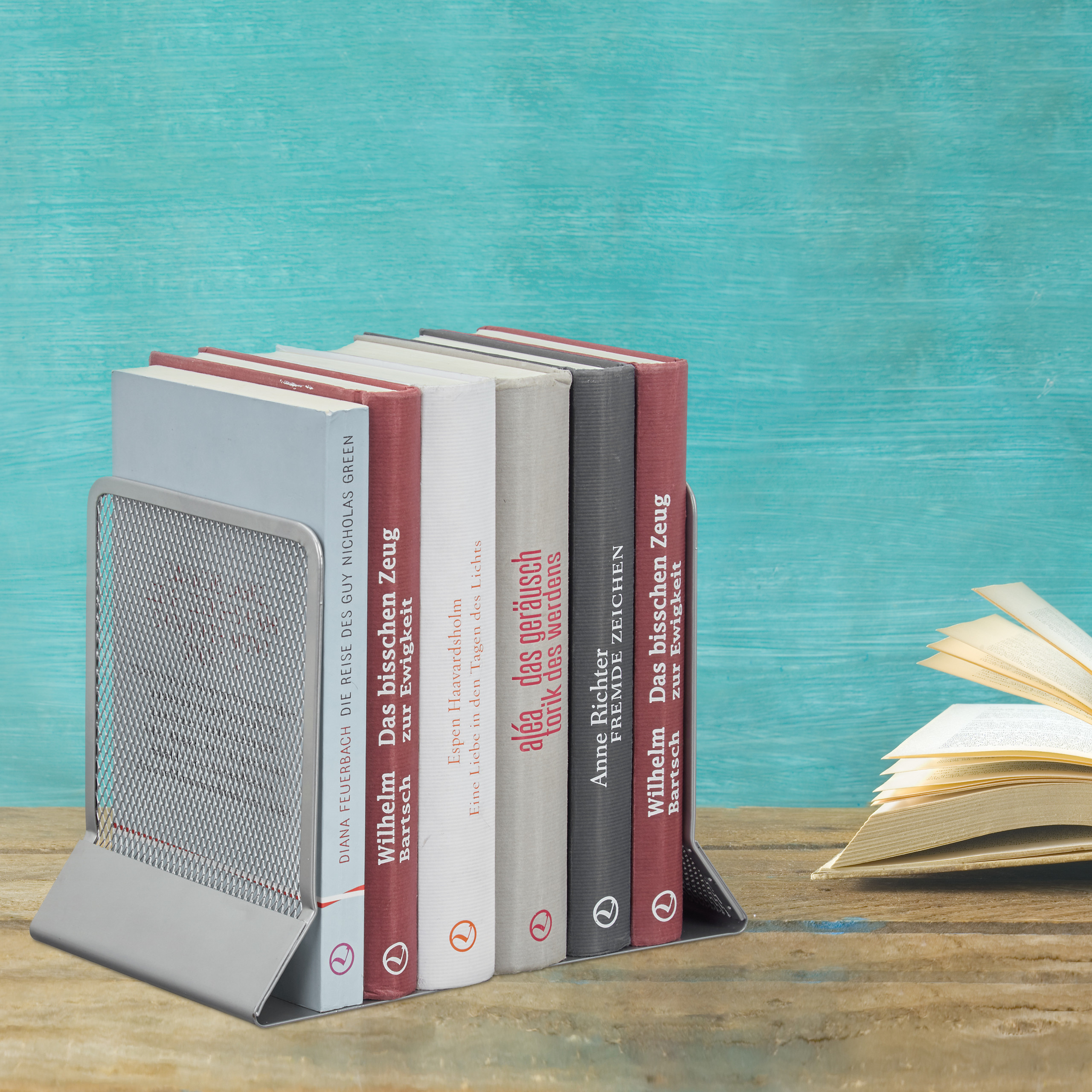 2-Piece-Bookend-Set-Decorative-Book-CD-and-DVD-Holders-Metal-Book-Support thumbnail 13
