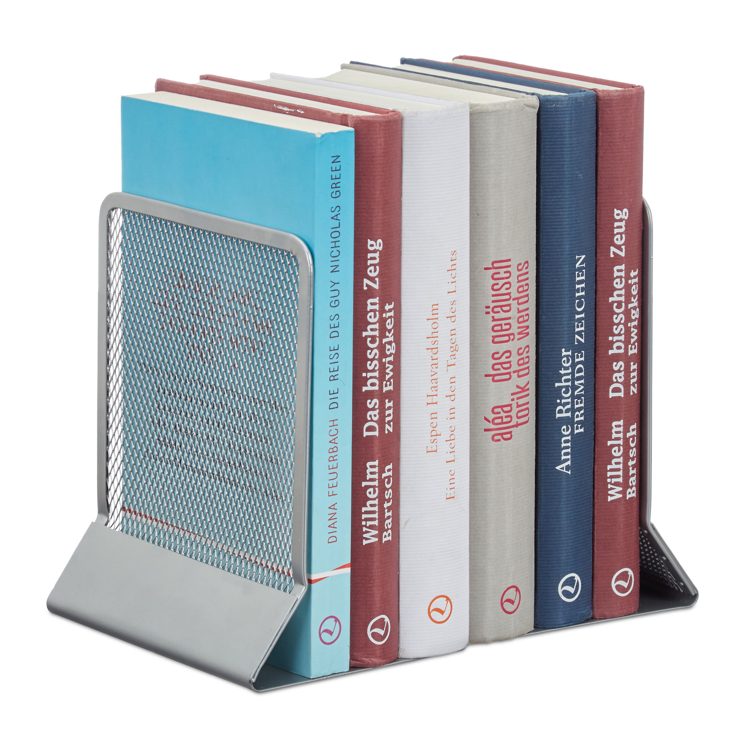 2-Piece-Bookend-Set-Decorative-Book-CD-and-DVD-Holders-Metal-Book-Support thumbnail 14