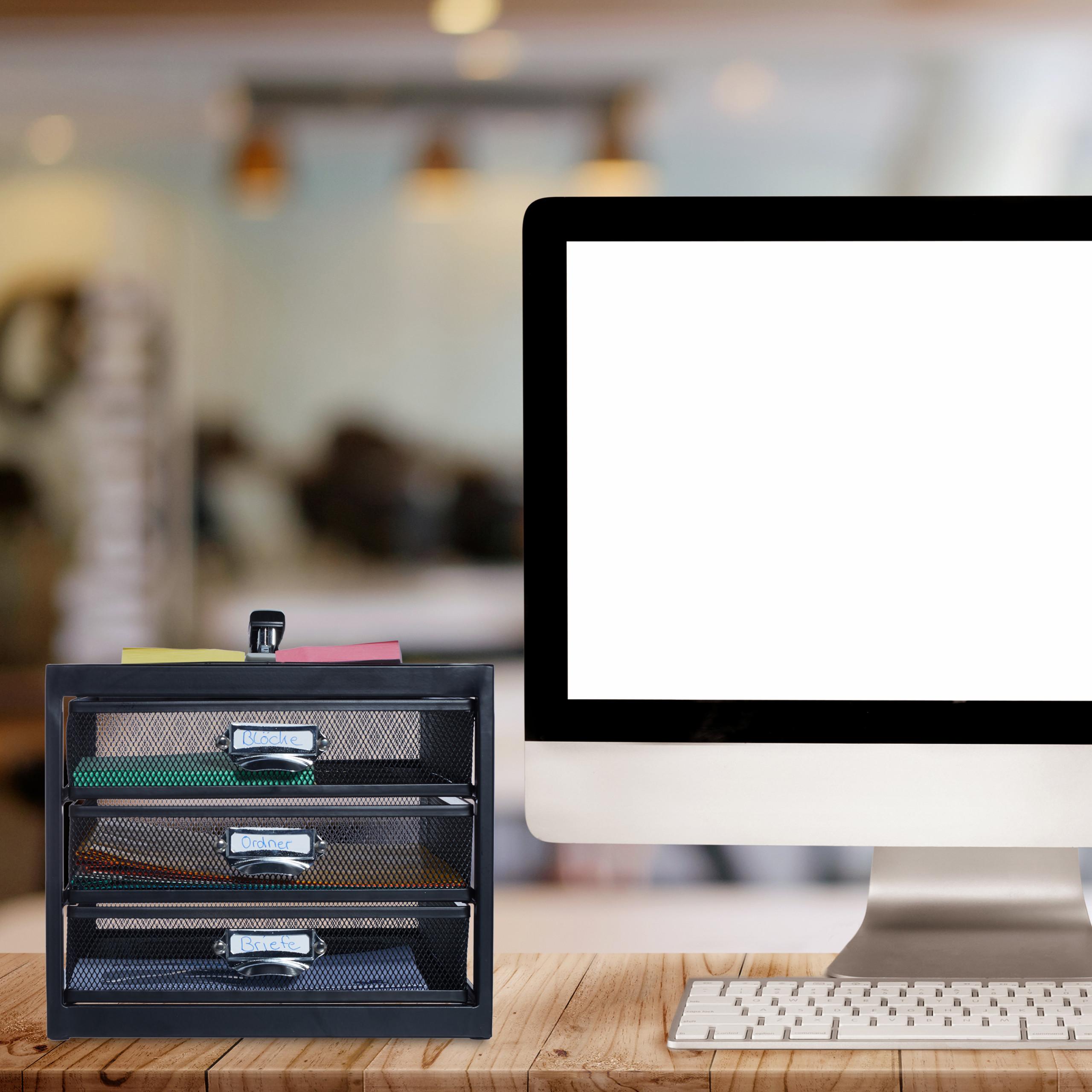 Corbeille-a-courrier-porte-documents-organiseur-porte-revues-3-tiroirs miniature 15