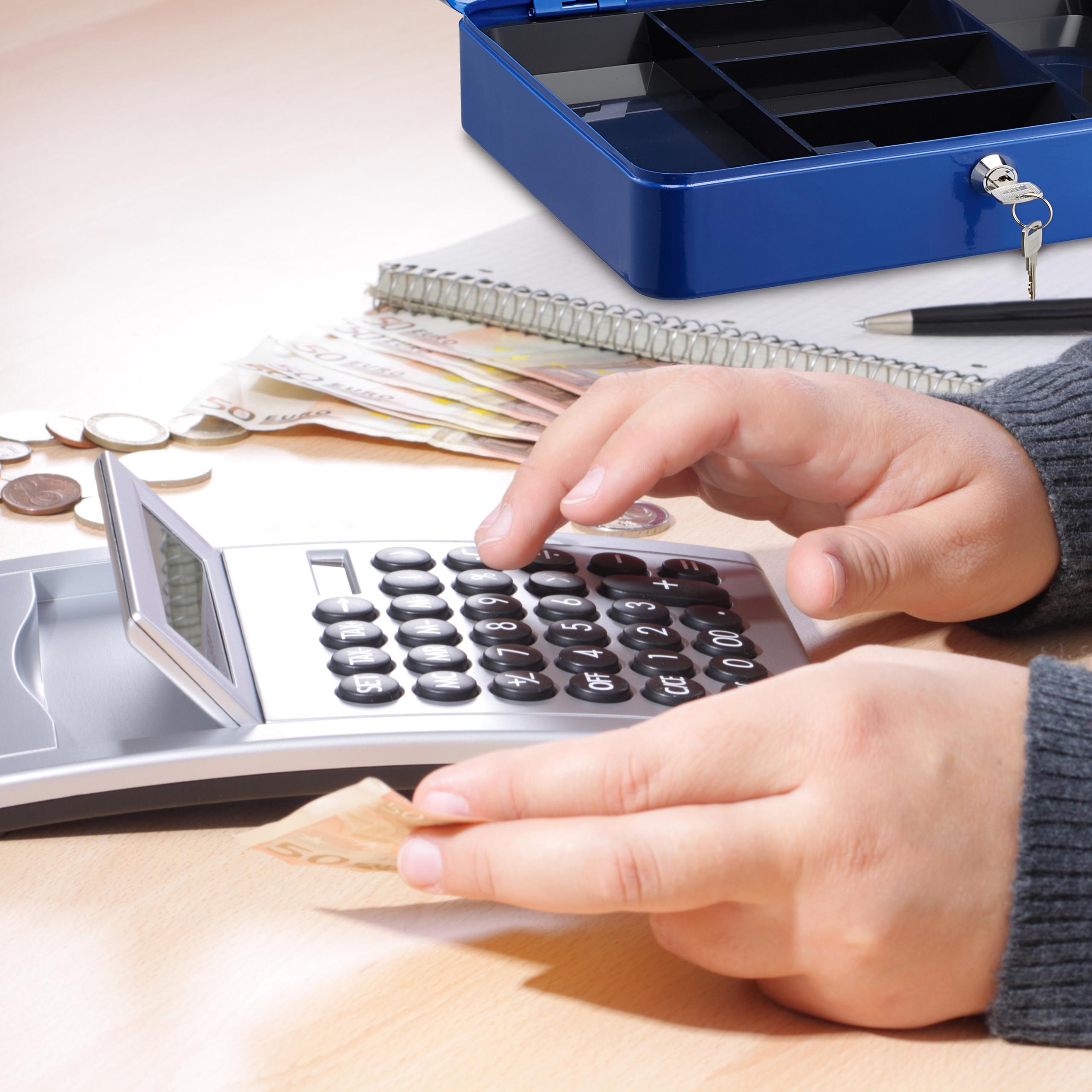 Lockable-Cash-Box-Large-Locking-Money-Box-with-2-Keys-Metal-Case-Safe thumbnail 13