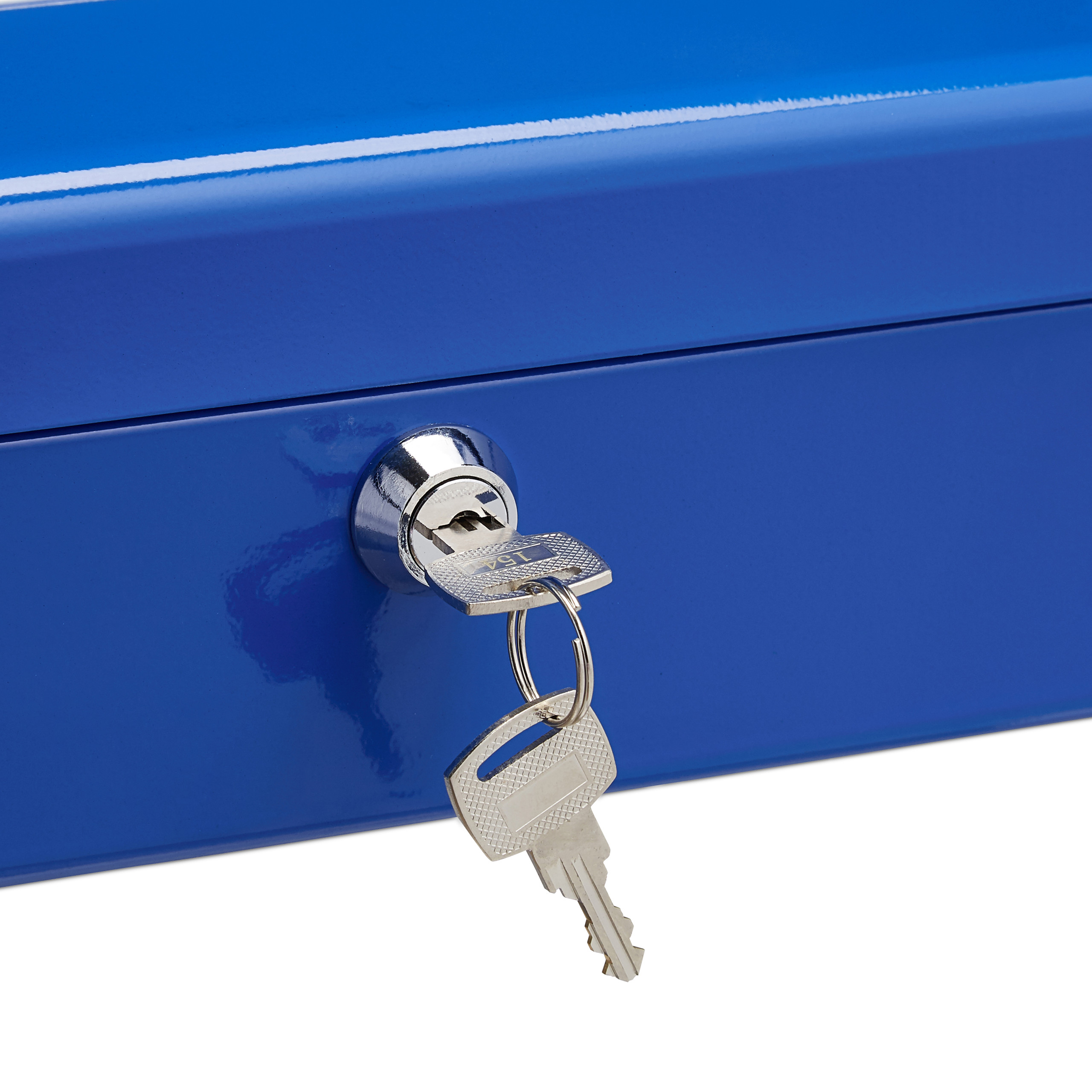 Lockable-Cash-Box-Large-Locking-Money-Box-with-2-Keys-Metal-Case-Safe thumbnail 15