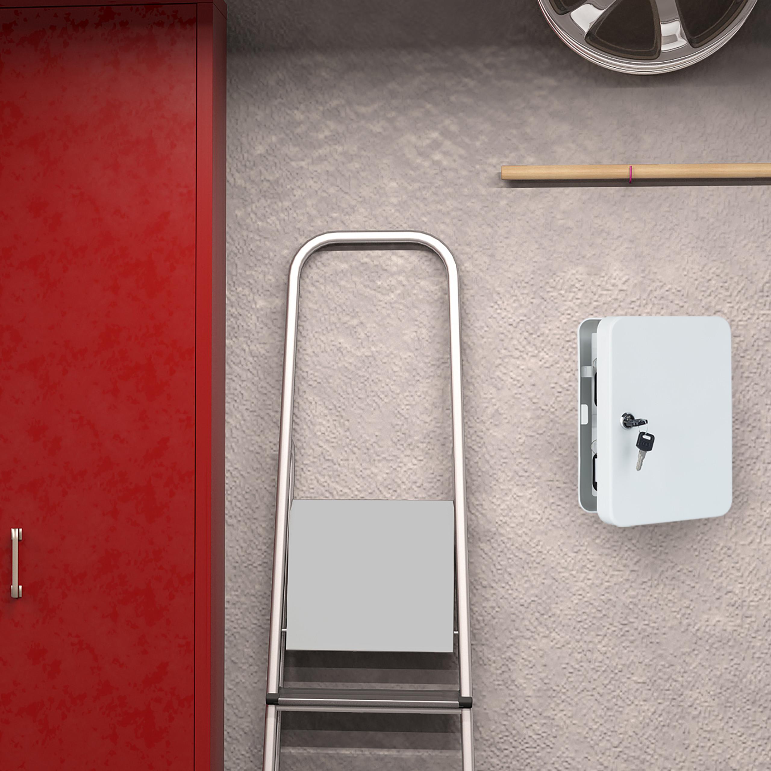 Boite-a-cles-armoire-a-clef-murale-rangement-48-crochets-fermant-a-cle-garage miniature 5