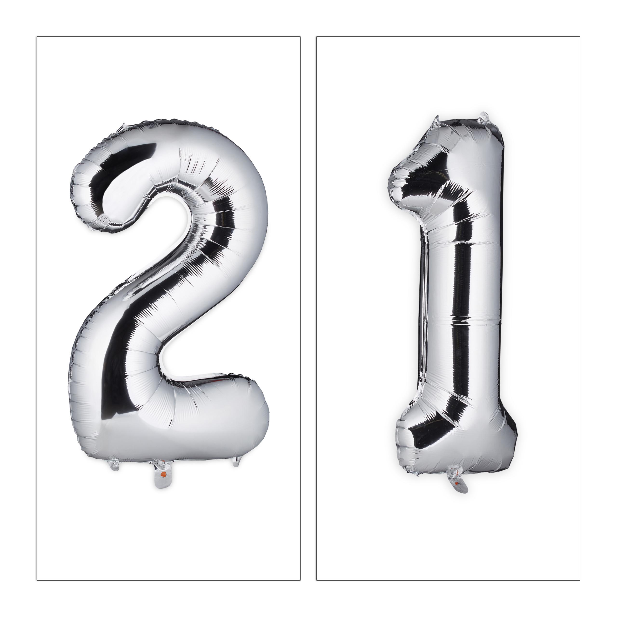 Ballon-chiffre-numero-21-gonflable-anniversaire-decoration-geant-mariage miniature 3