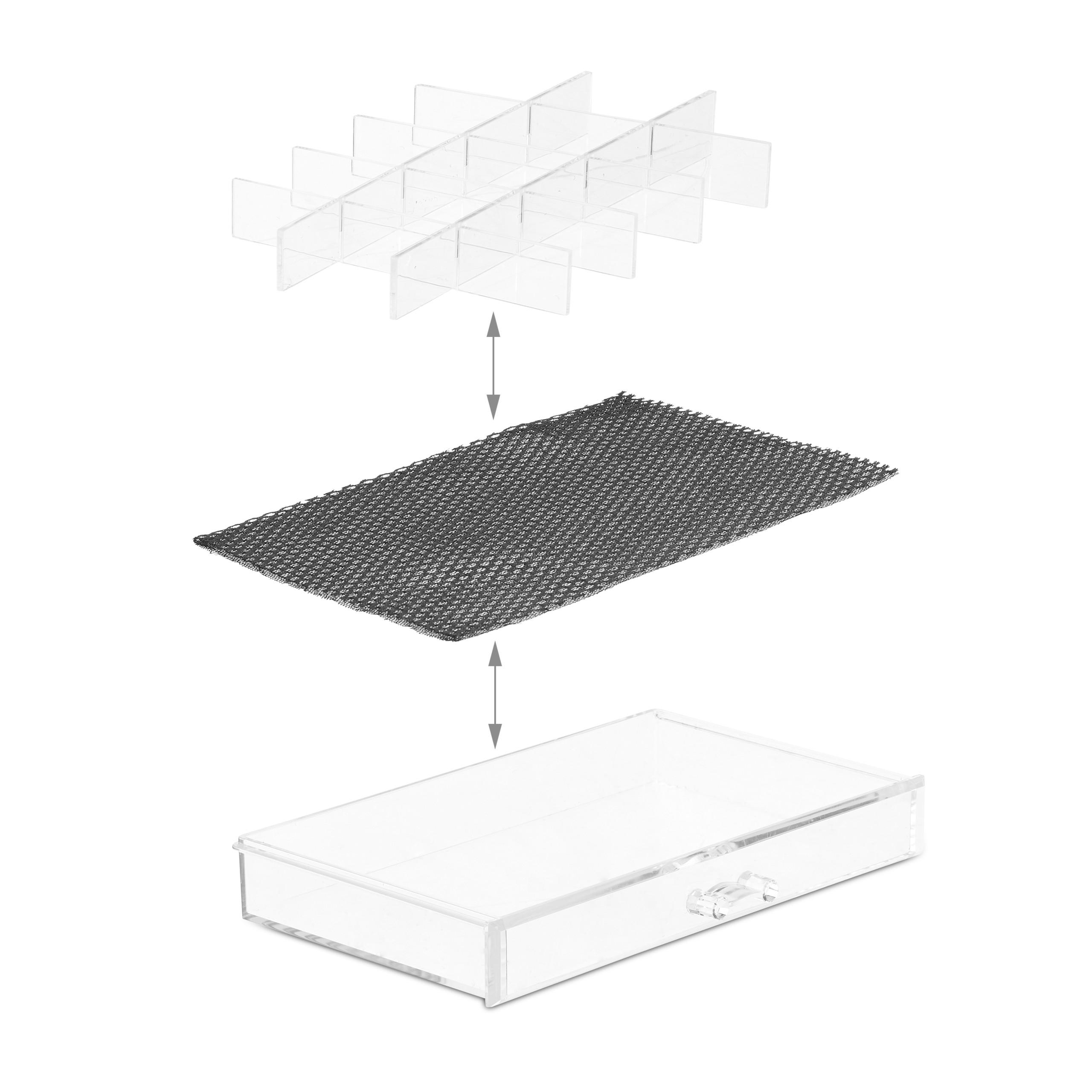 make-up-organizer-acryl-3-lades-met-vakken-acrylbox-cosmeticabox-opbergdoos miniatuur 8