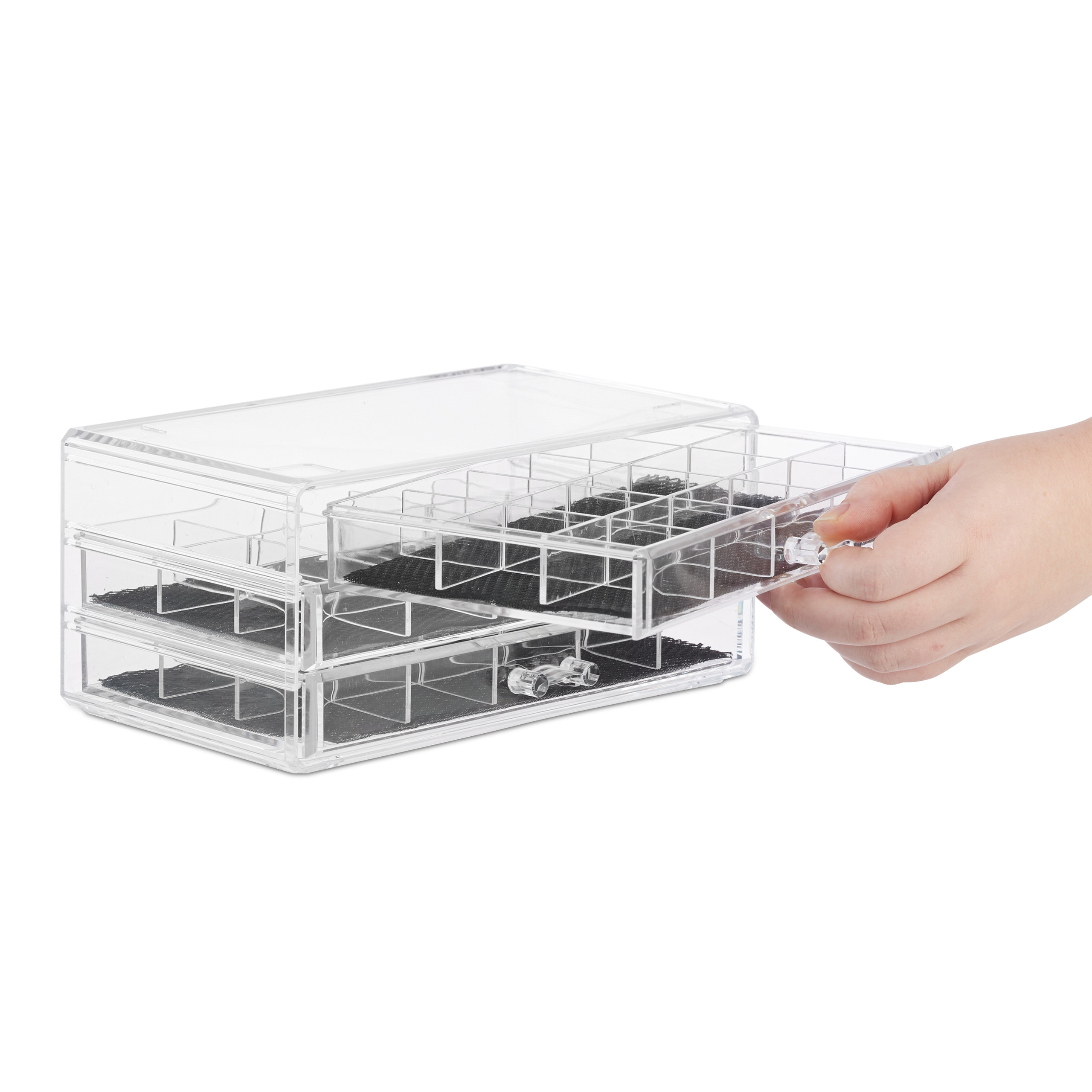 make-up-organizer-acryl-3-lades-met-vakken-acrylbox-cosmeticabox-opbergdoos miniatuur 10