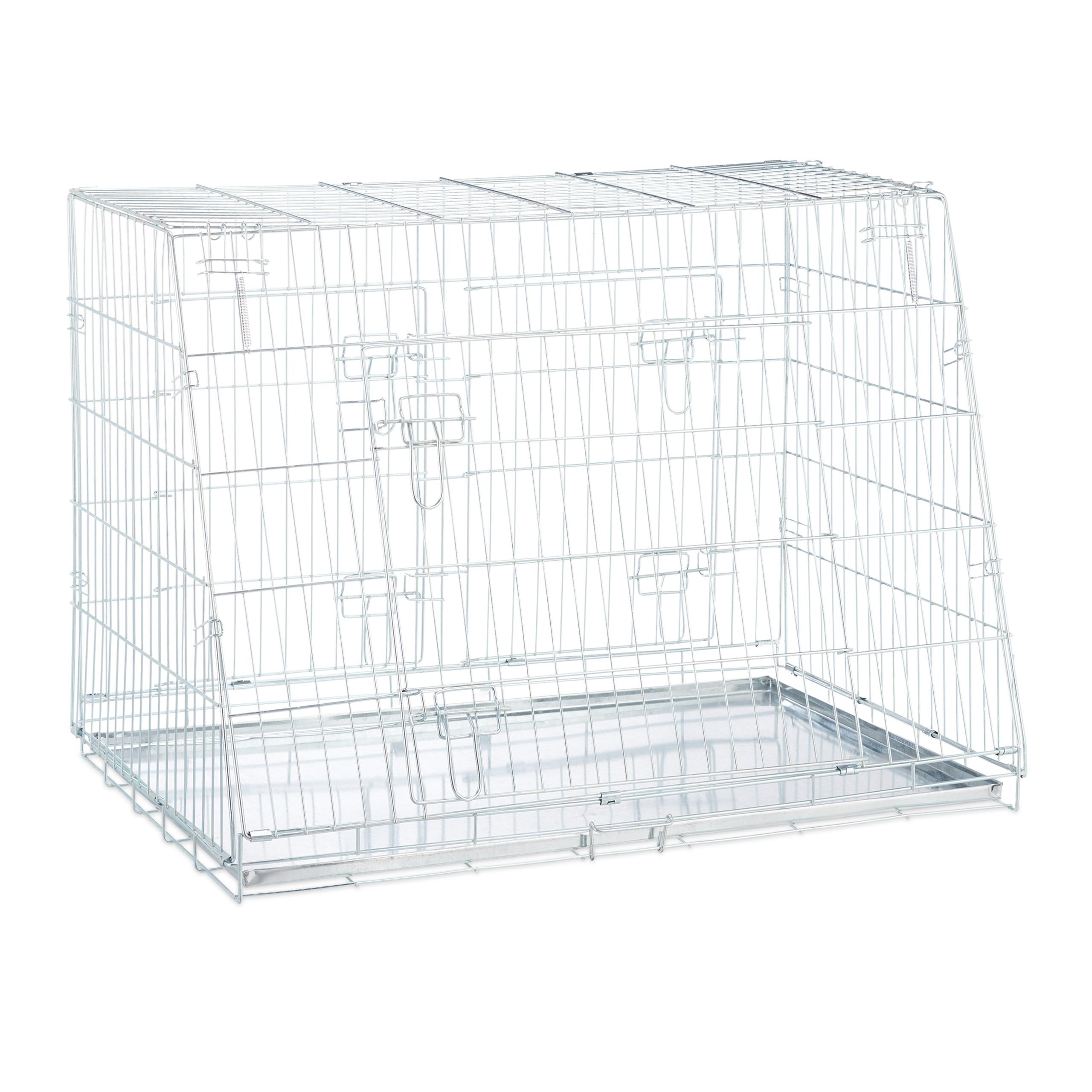 Hondenbench-dubbel-transportbench-transportbox-draadkooi-hond-L-XL-opvouwbaar miniatuur 5