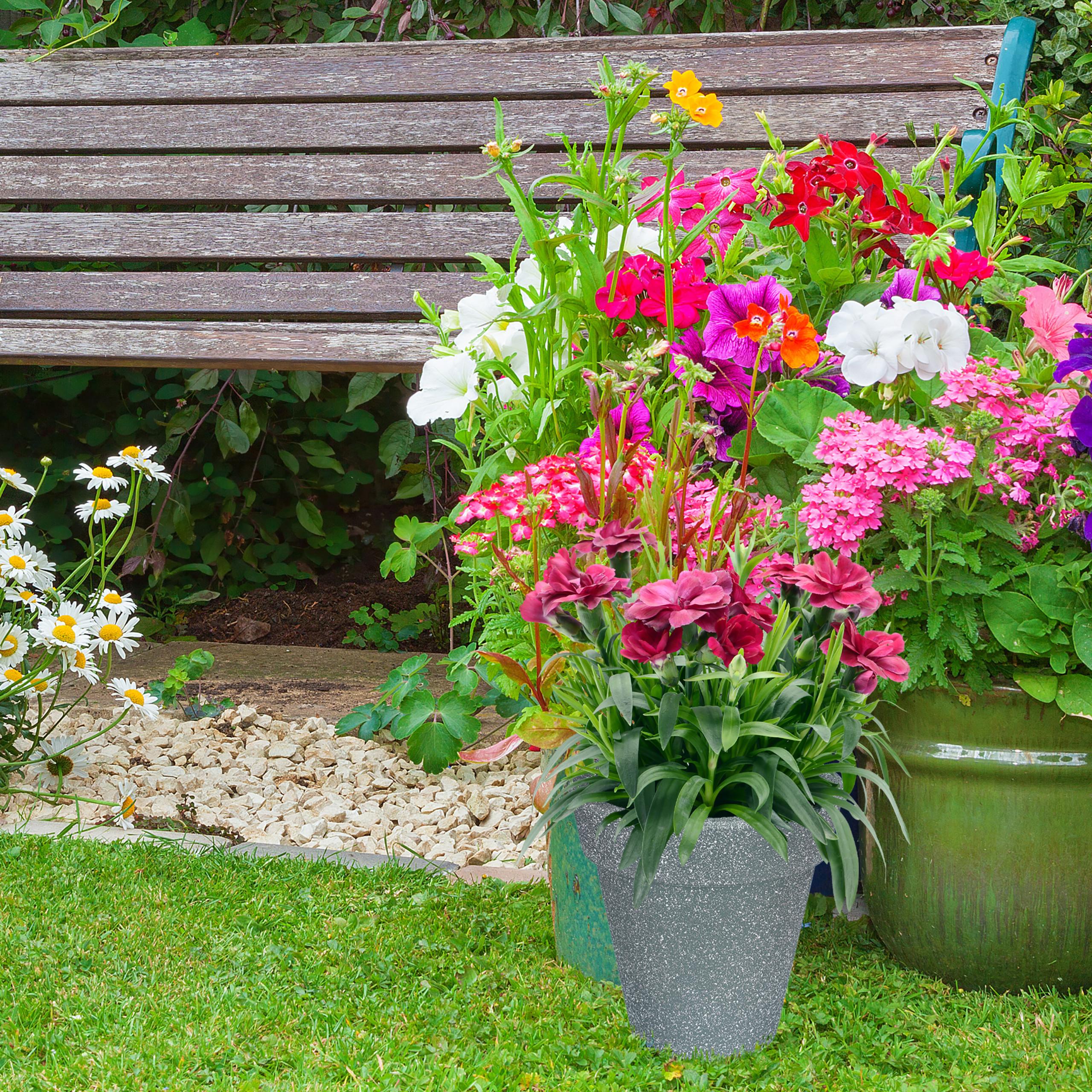 Pots-a-plantes-en-lot-de-2-ronds-Sceaux-a-plantes-Pots-ronds-Plastique-Fleurs miniature 4