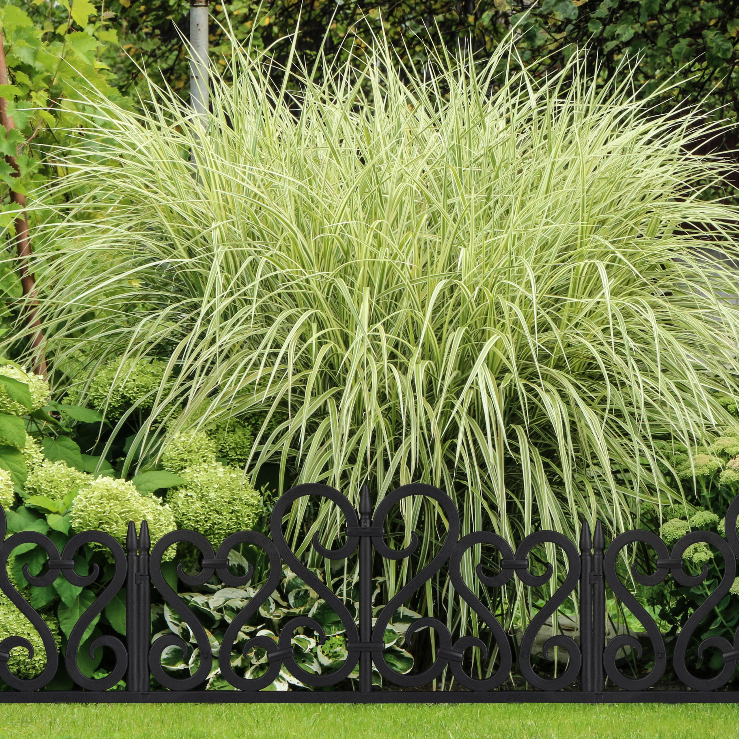 Valla-jardin-Borde-cesped-Bordillo-limitador-jardin-Set-4-separadores-cesped miniatura 11