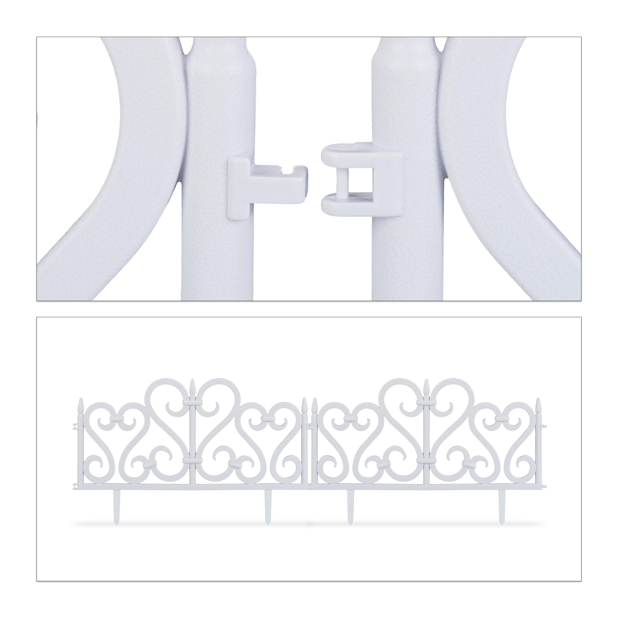 Valla-jardin-Borde-cesped-Bordillo-limitador-jardin-Set-4-separadores-cesped miniatura 7