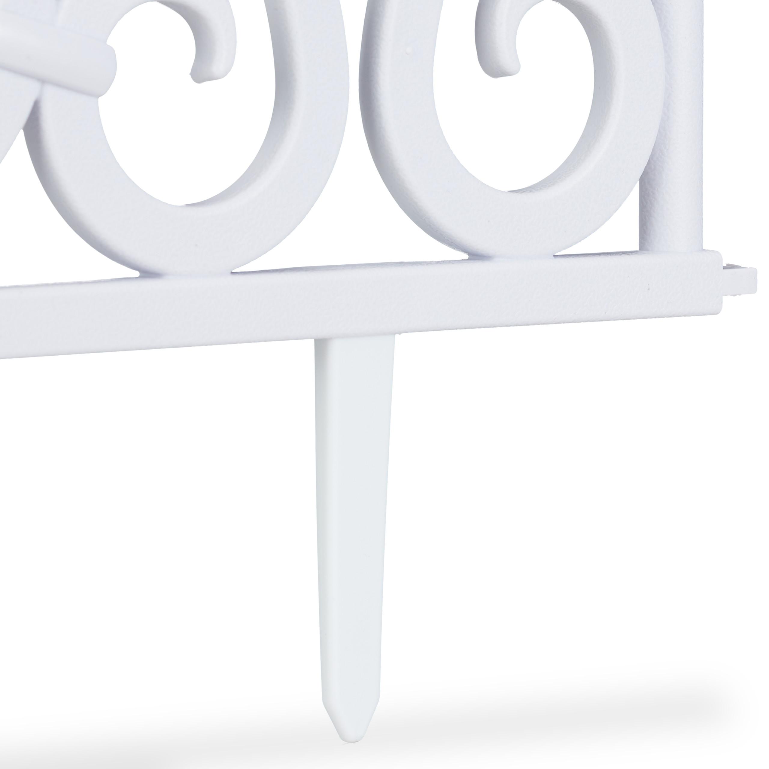 Valla-jardin-Borde-cesped-Bordillo-limitador-jardin-Set-4-separadores-cesped miniatura 8