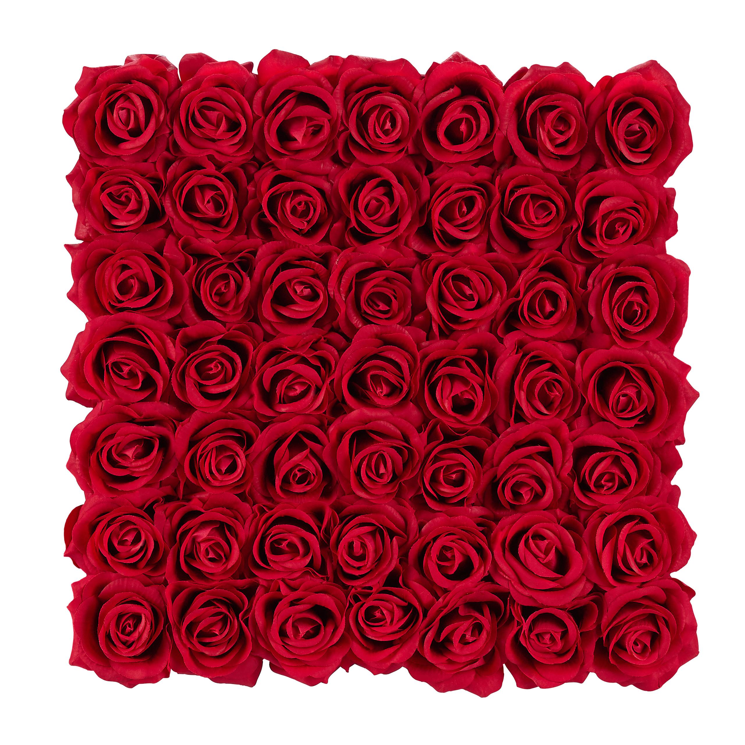 Rosenbox-Flowerbox-49-Kunstblumen-Valentinstag-Blumenbox-Deko-Ewige-Rosen-eckig Indexbild 11