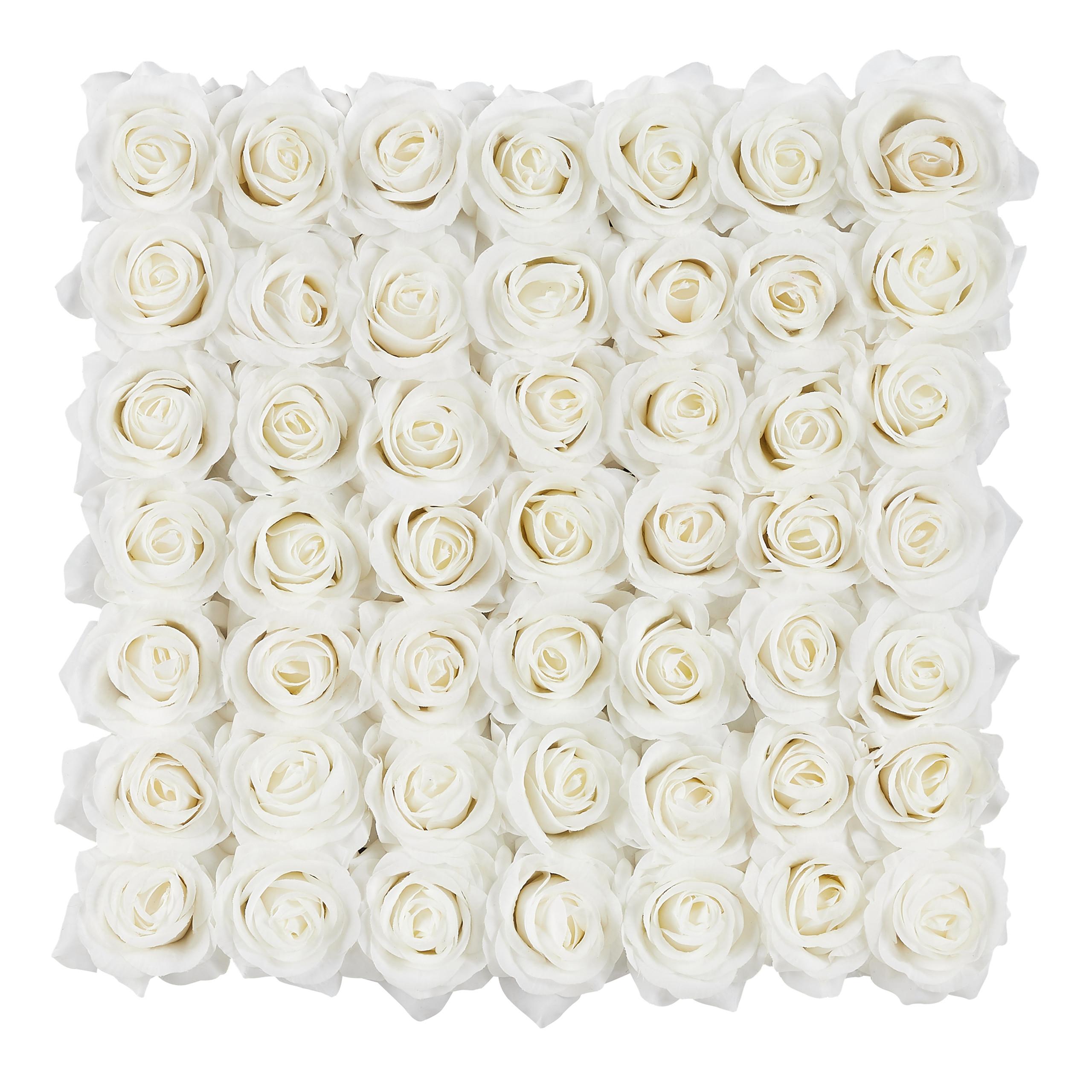 Rosenbox-Flowerbox-49-Kunstblumen-Valentinstag-Blumenbox-Deko-Ewige-Rosen-eckig Indexbild 19