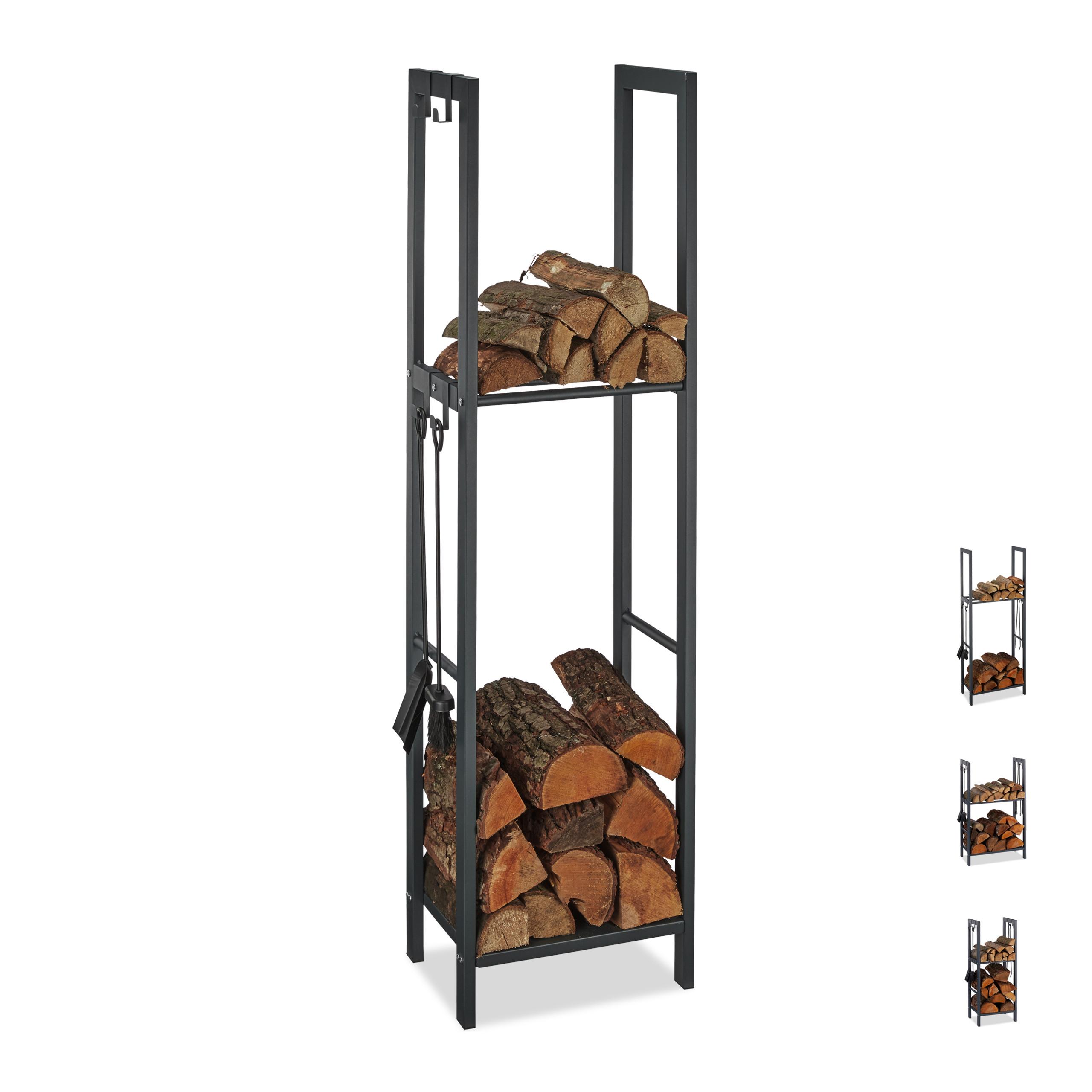 etag re de chemin e tag re b ches bois acier panier bois porte b ches 150x40 ebay. Black Bedroom Furniture Sets. Home Design Ideas