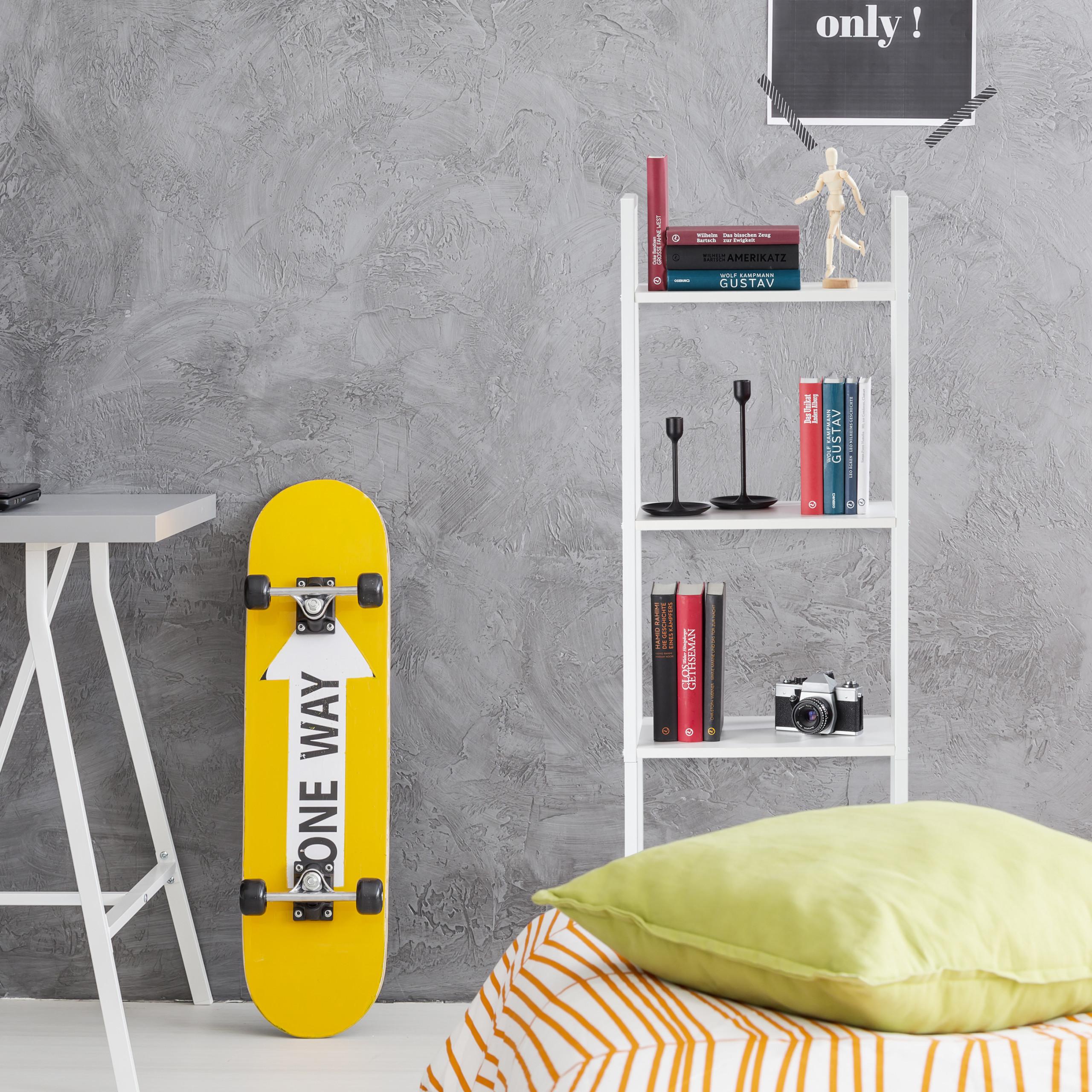 Dettagli su Scaffale a 4 ripiani libreria mobiletto con mensole porta  piante bagno & cucina