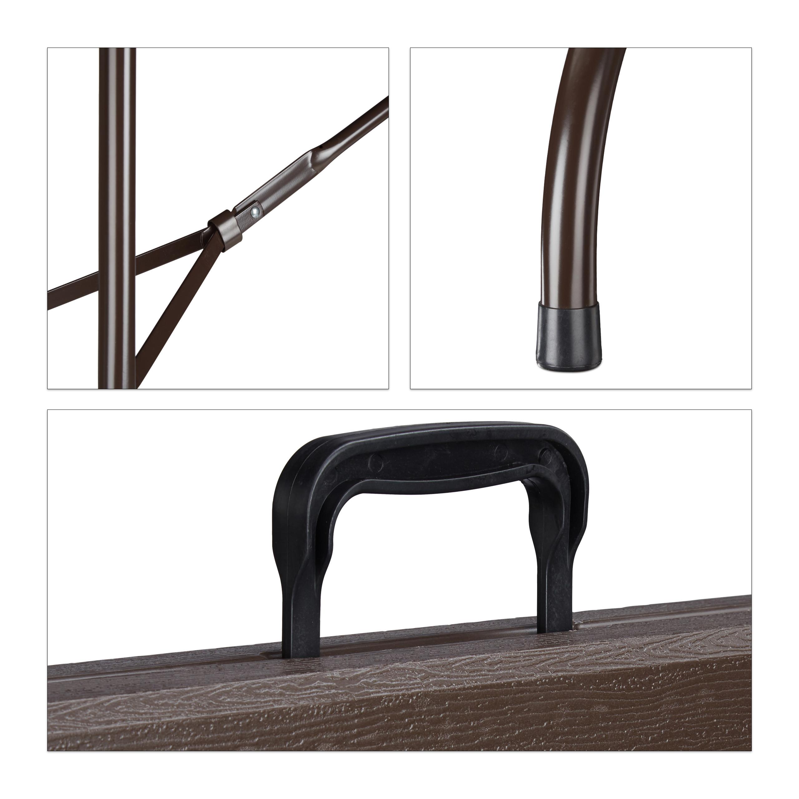 Tavolo giardino bistrò tavolino pieghevole aspetto legno ...